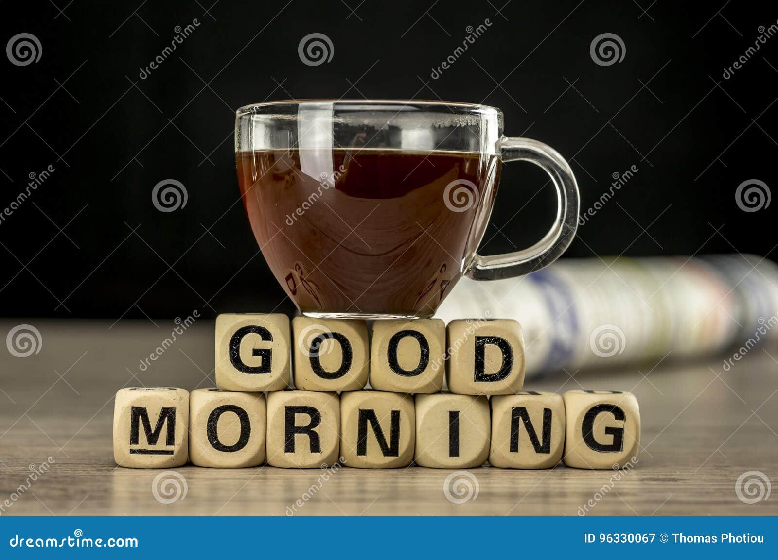 Bom Dia Com Café E Jornal Imagem De Stock Imagem De Jornal 96330067