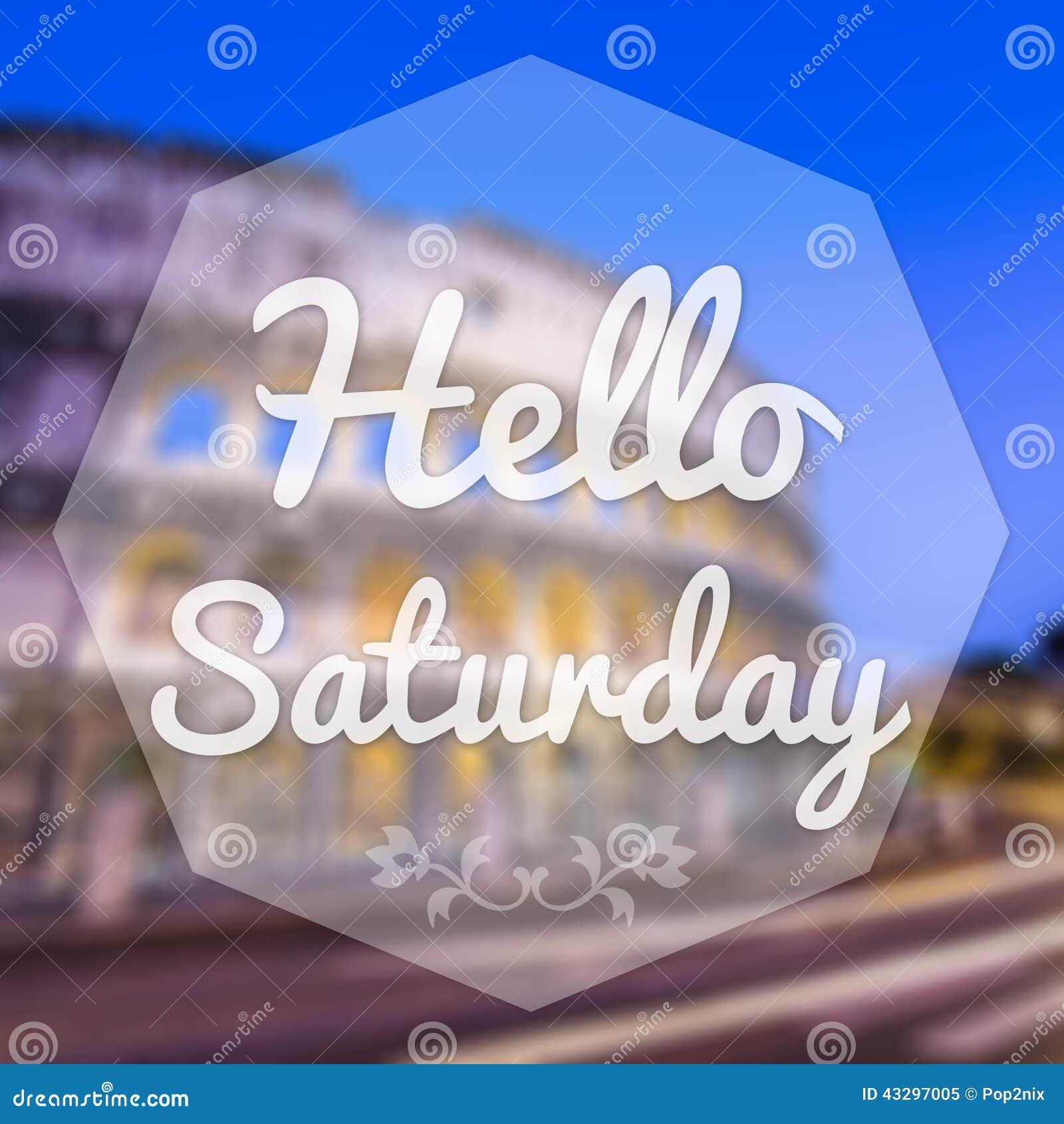 Bom dia sábado