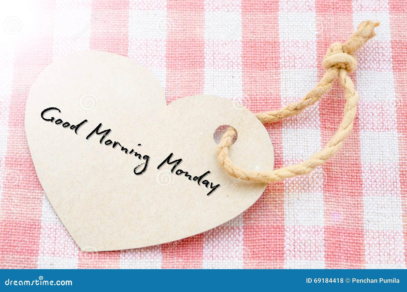 Bom dia segunda-feira