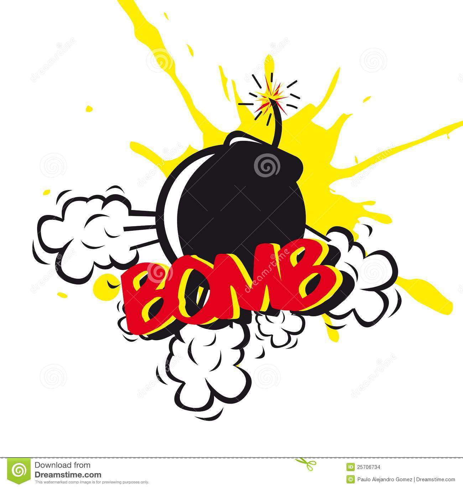 Bomb comic over white background. illustration.