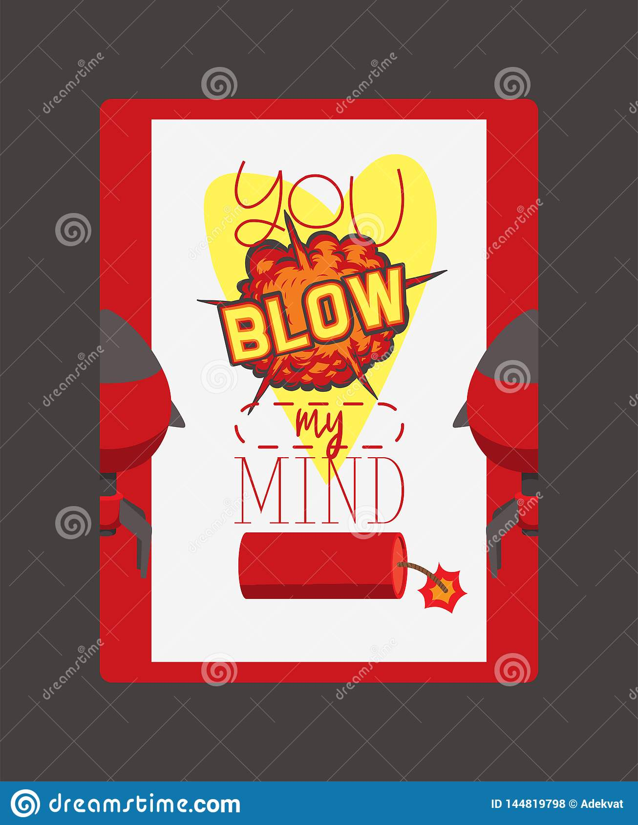 Bomb Explosion Vector Weapon Dynamite Blow Your Mind Thinking Destruction Boom Illustration