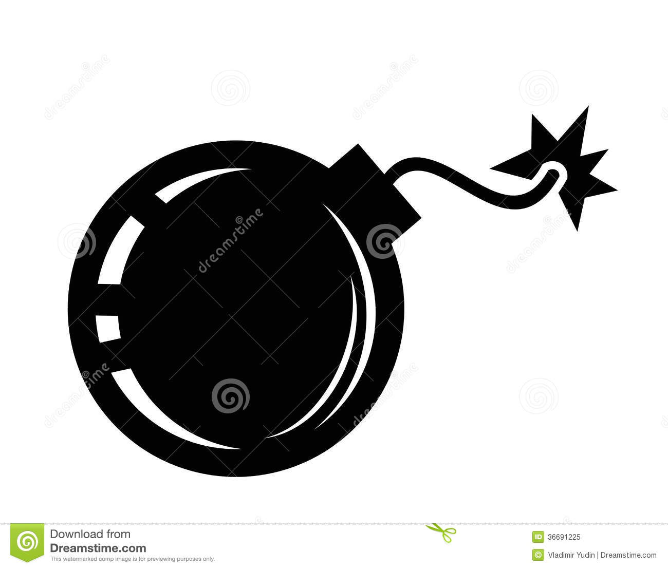 Bomb Icon Royalty Free Stock Photo - Image: 36691225