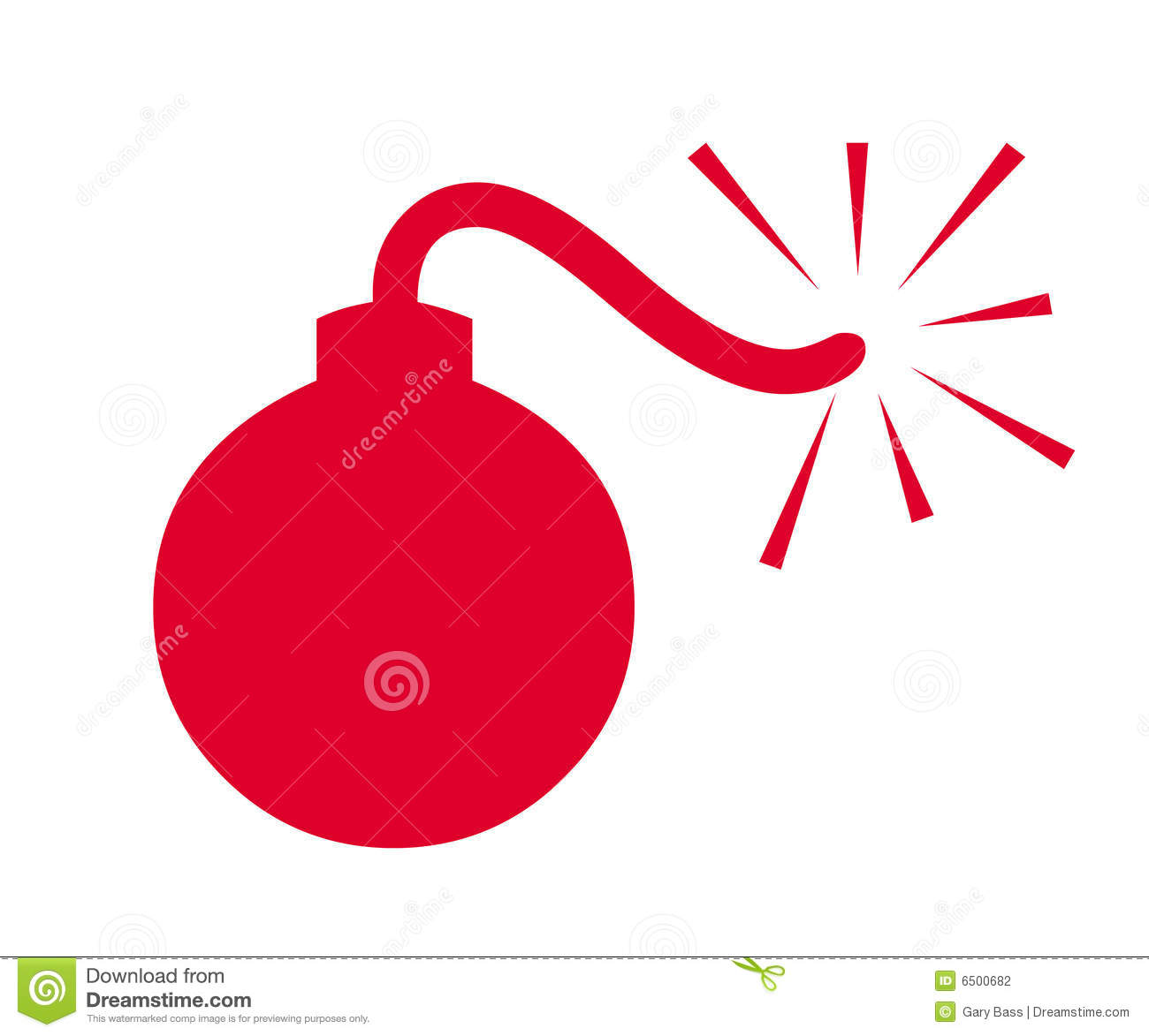 Bomb Symbol Stock Photography - Image: 6500682