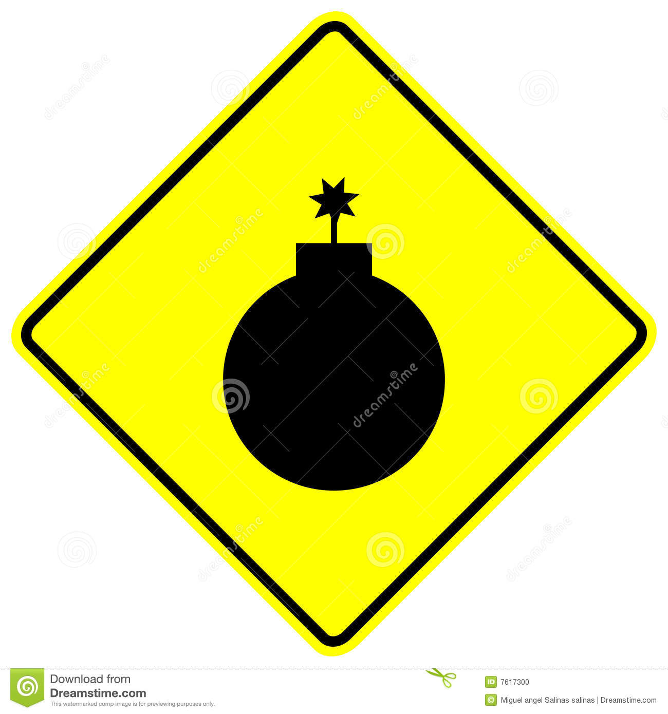 Bomb vector sign stock vector. Illustration of caution ...