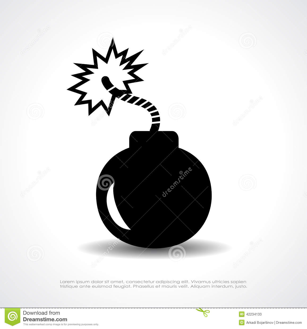 Bomb vector symbol stock vector. Image of danger ...