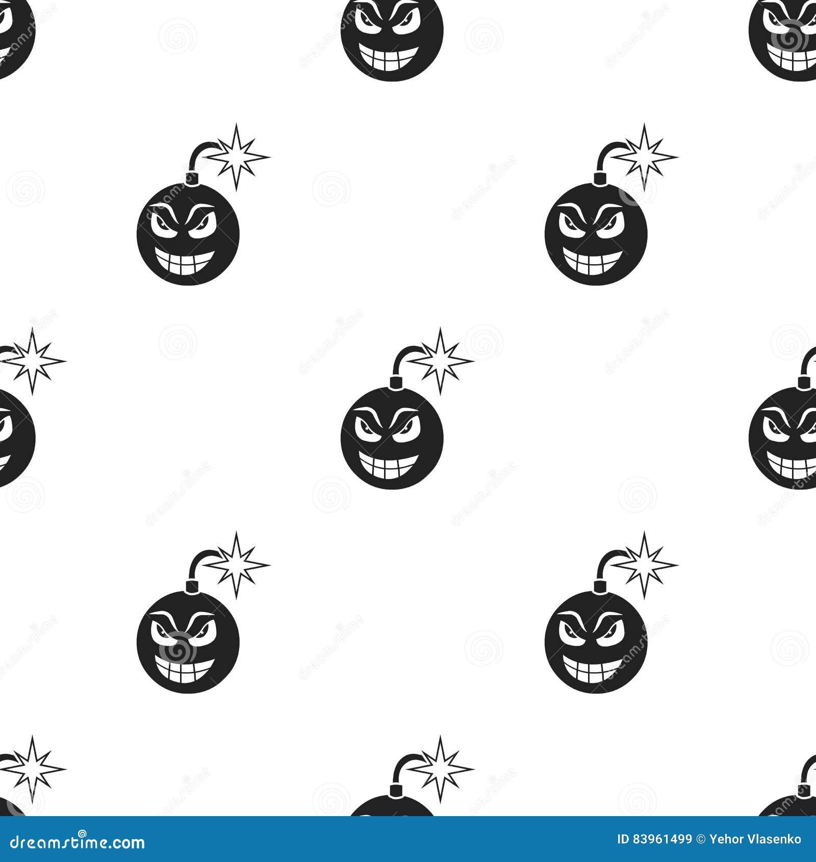 Bomb Virus Icon In Cartoon Style Isolated On White