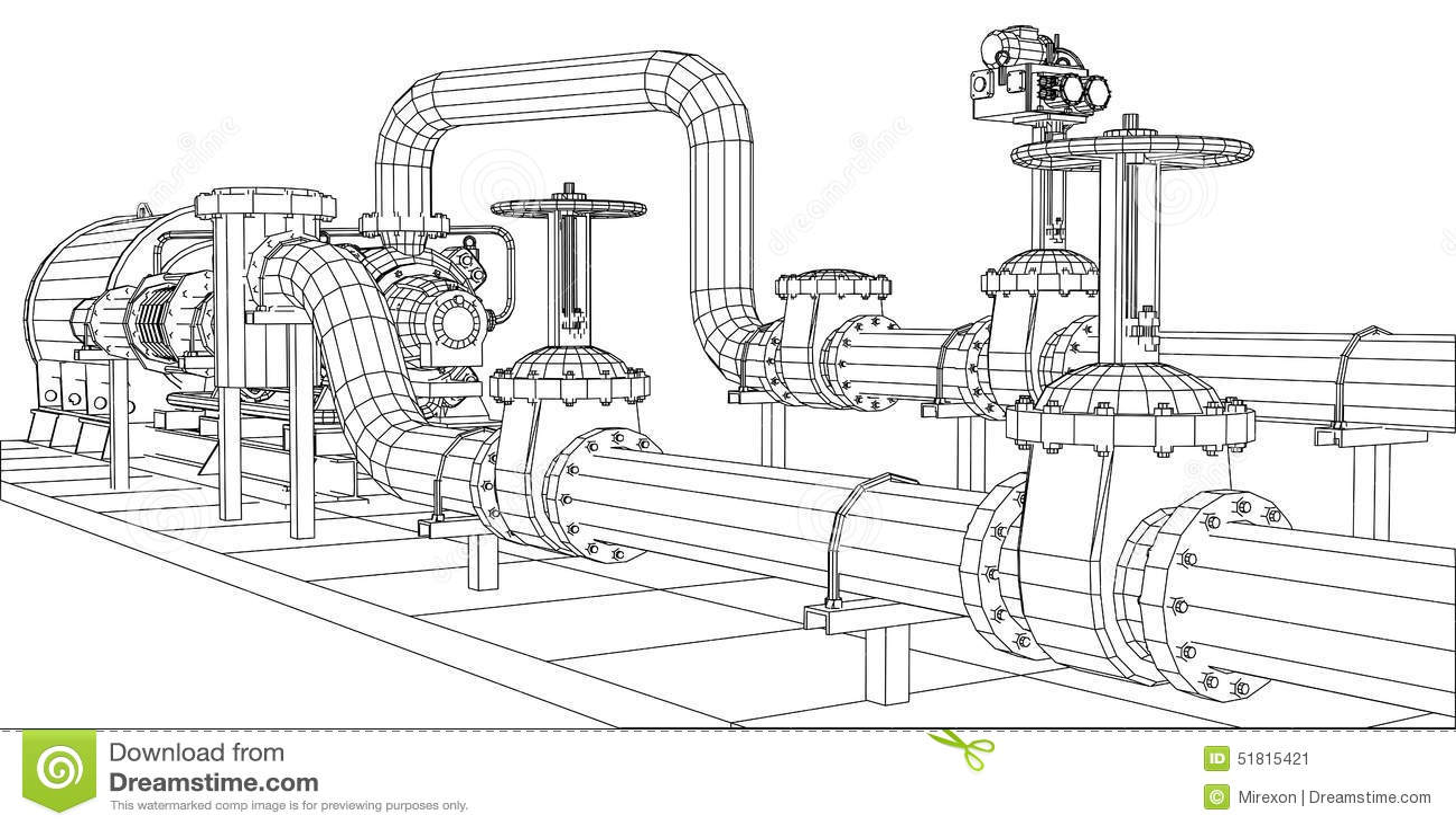 Bomba de petróleo e gás do equipamento industrial do Fio-quadro