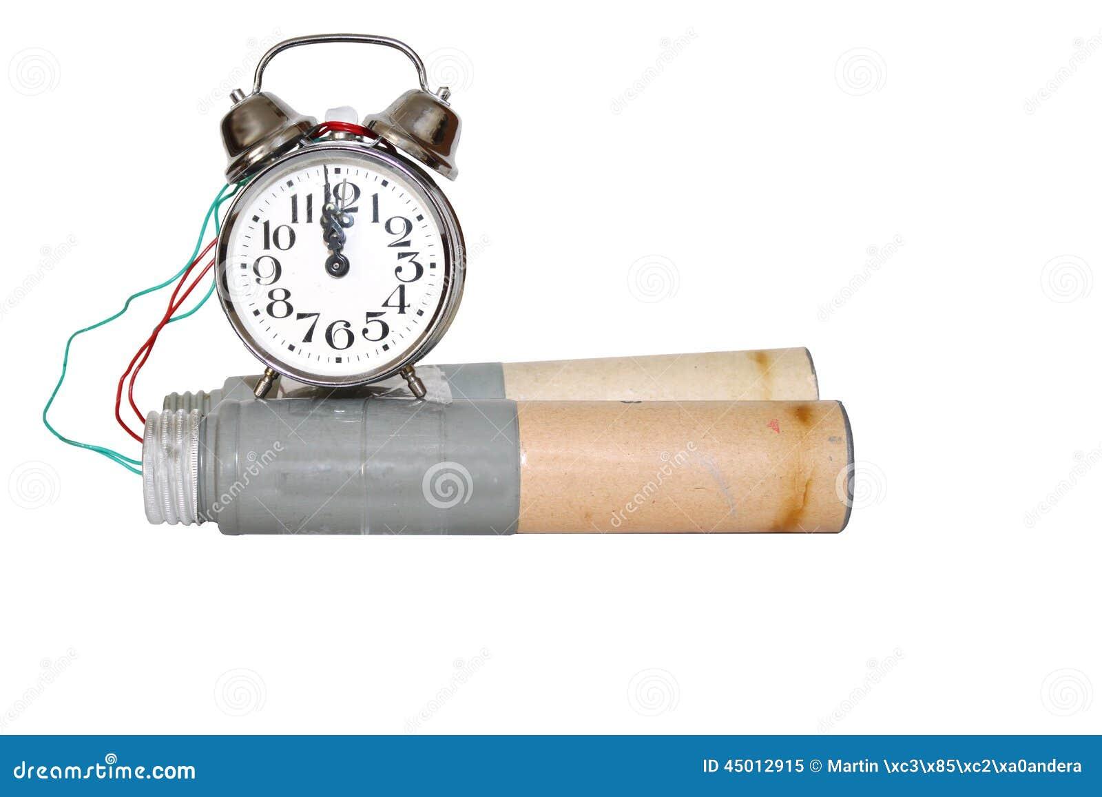 ba430b066312 Bomba De Relojería Conectada Con El Despertador Imagen de archivo ...