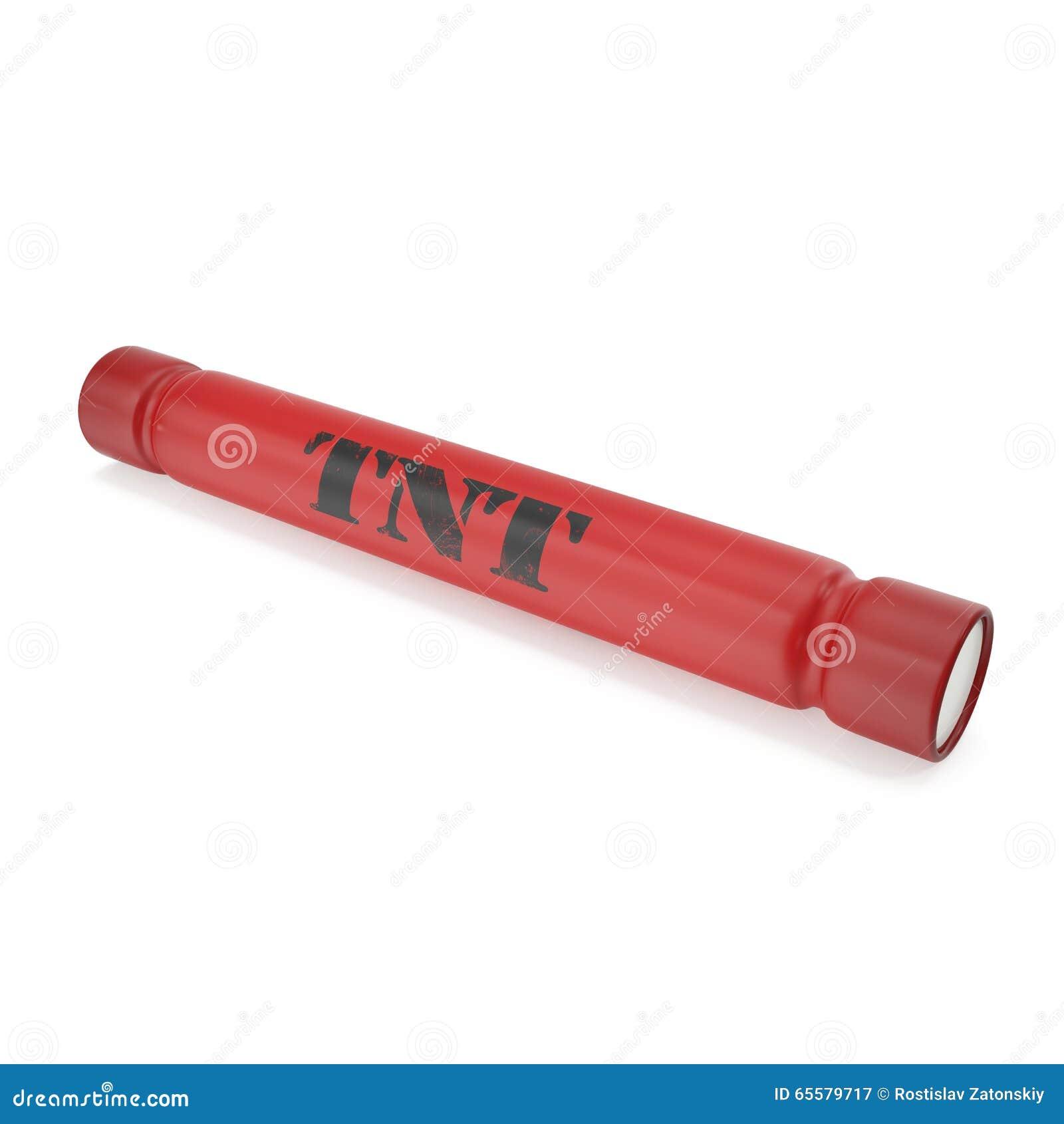 Bomba de TNT isolada em um fundo branco