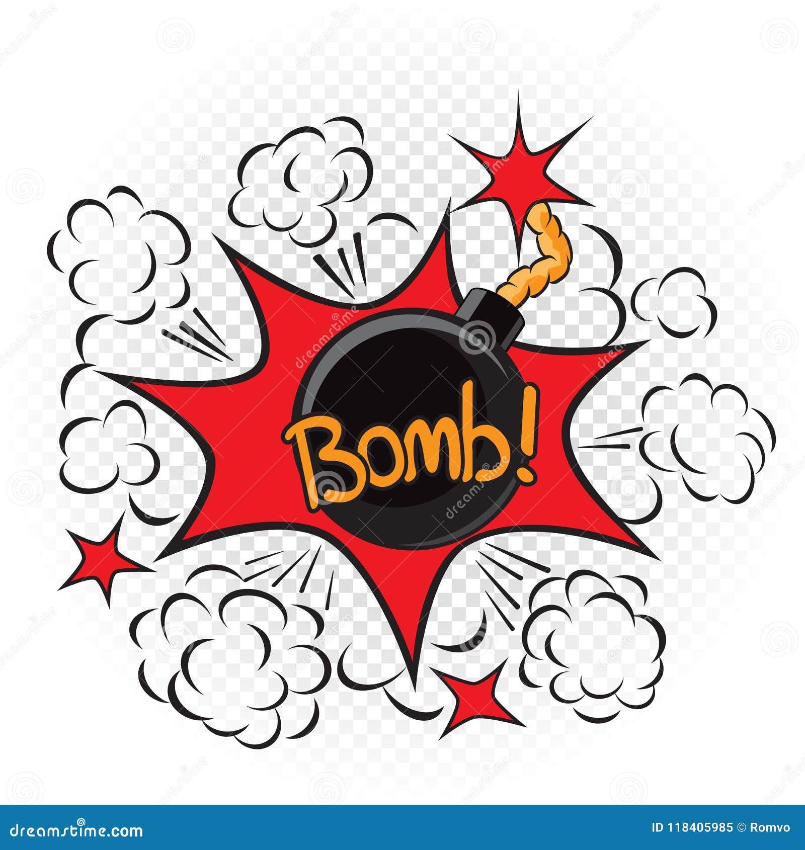 A Bomba Explode A Ilustracao Dos Desenhos Animados Ilustracao Do