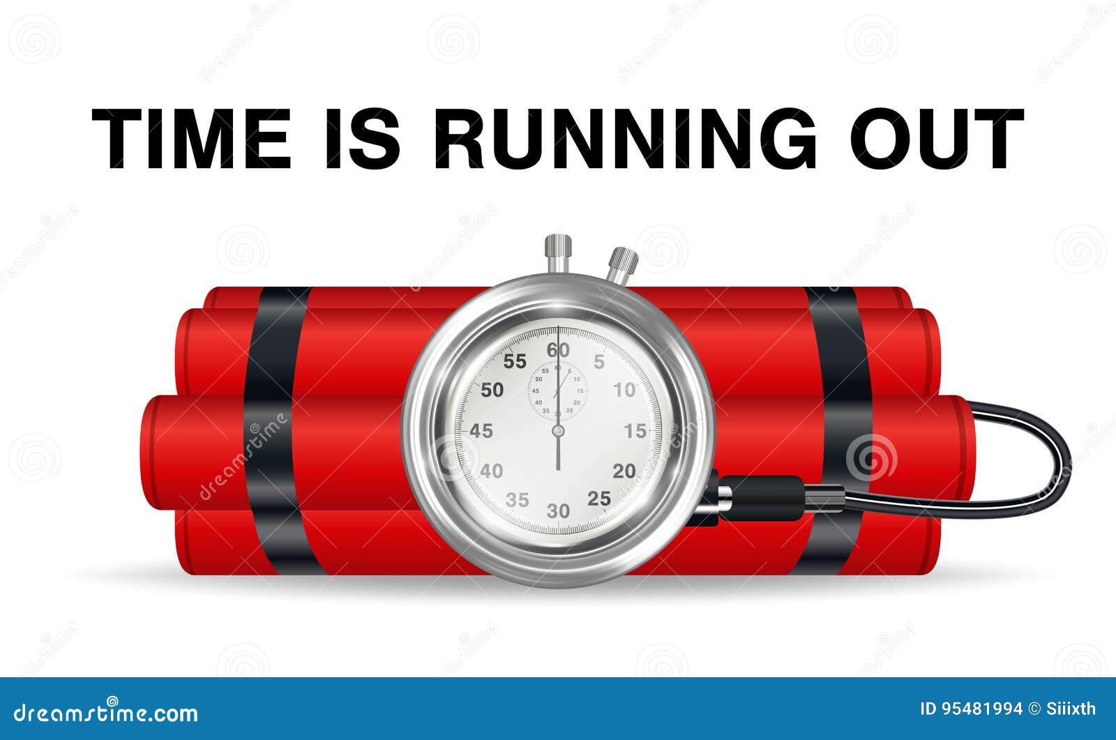 Bomba zegarowa z czerwonym dynamitem i stopwatch
