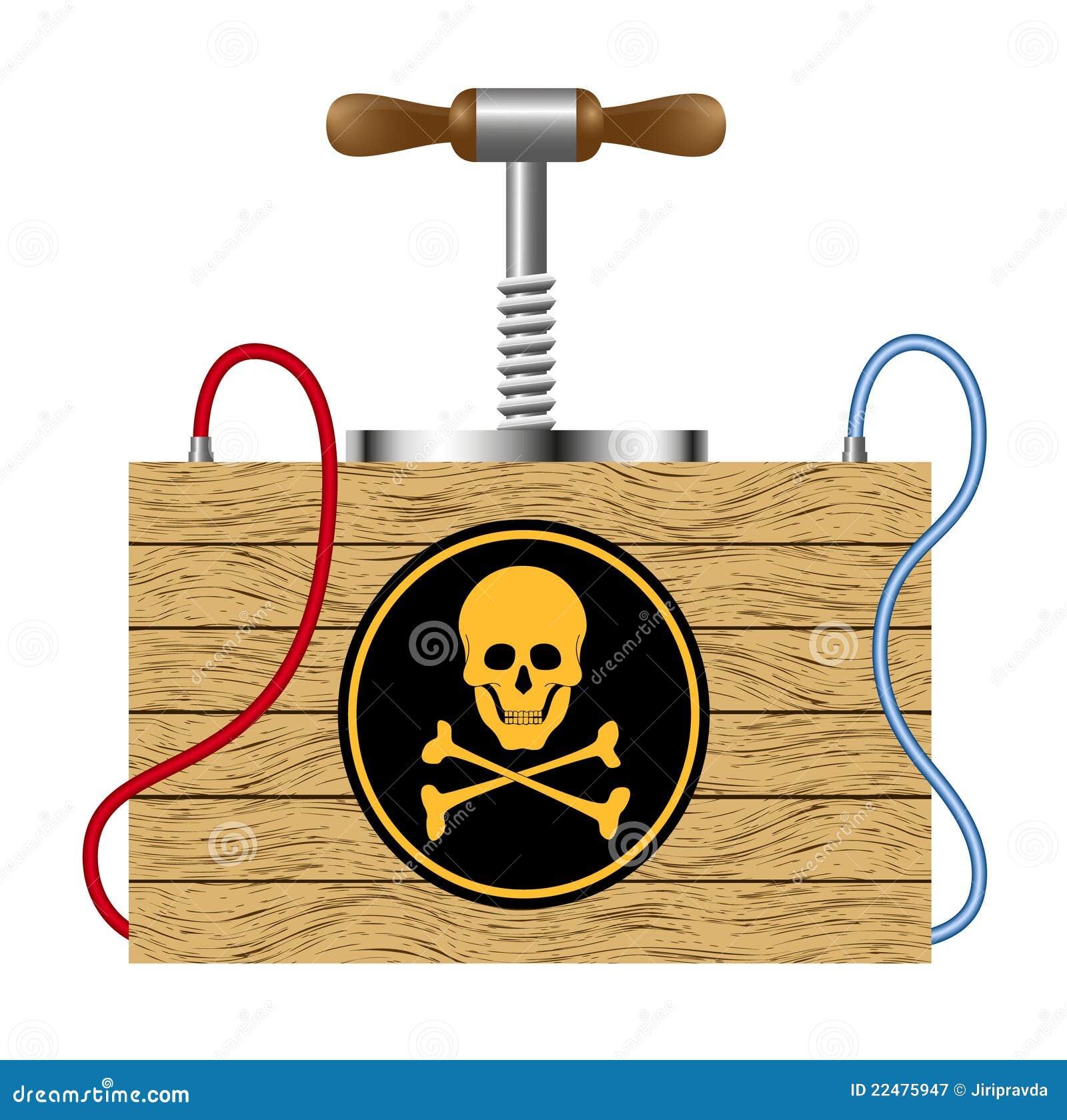 Bombardera symbolet för farateckenskallen