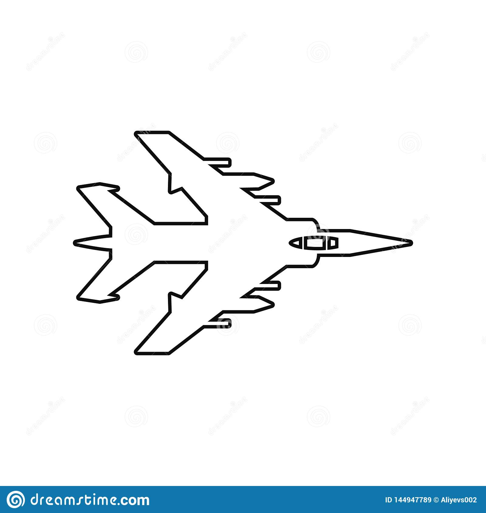 Bombardment Plane Icon  Element Of Army Plane For Mobile