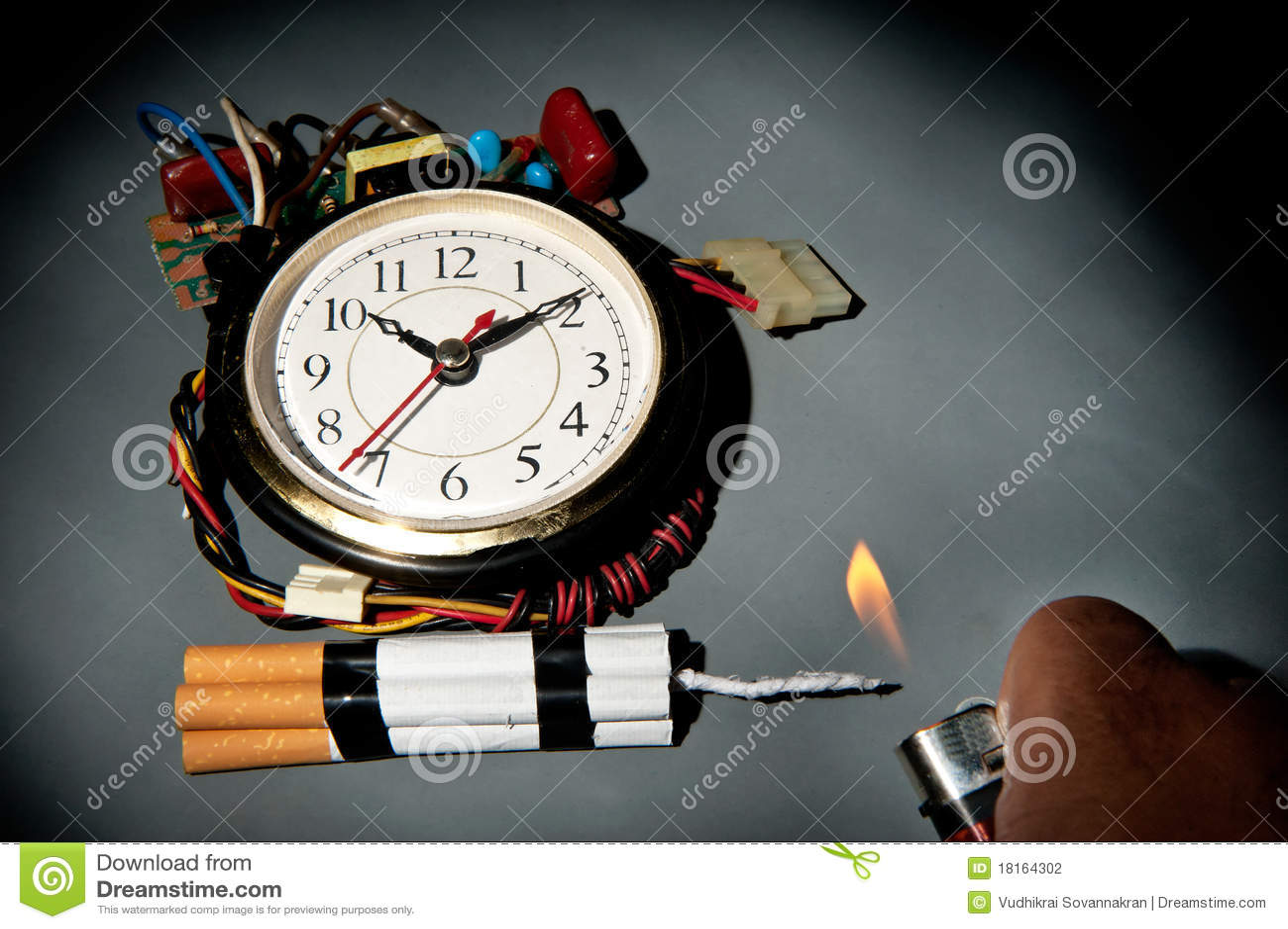 Bombe à retardement malsaine de cigarettes