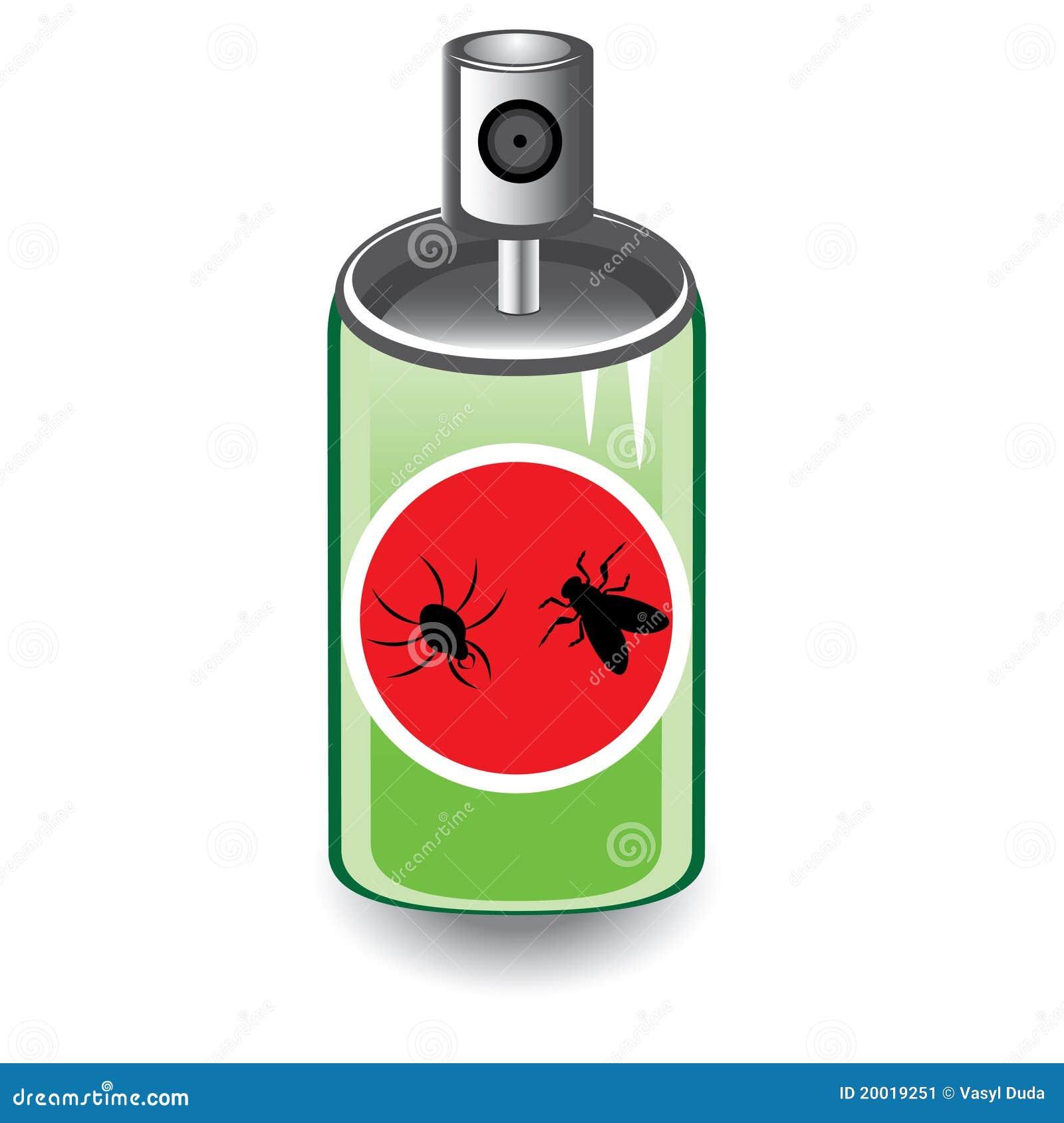 Bombe insecticide illustration de vecteur. Image du ...