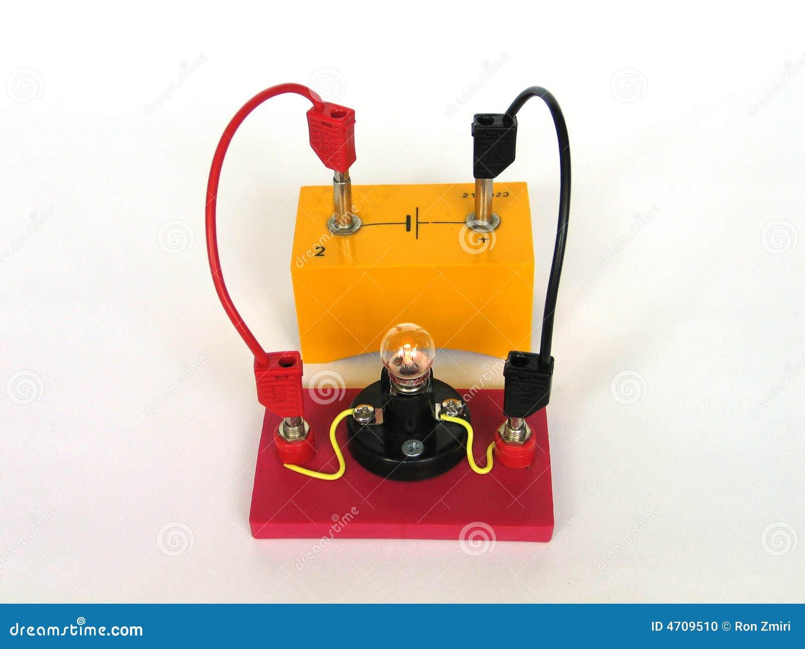 Circuito Electrico Simple De Una Casa : Un circuito eléctrico simple ilustración del vector ilustración de
