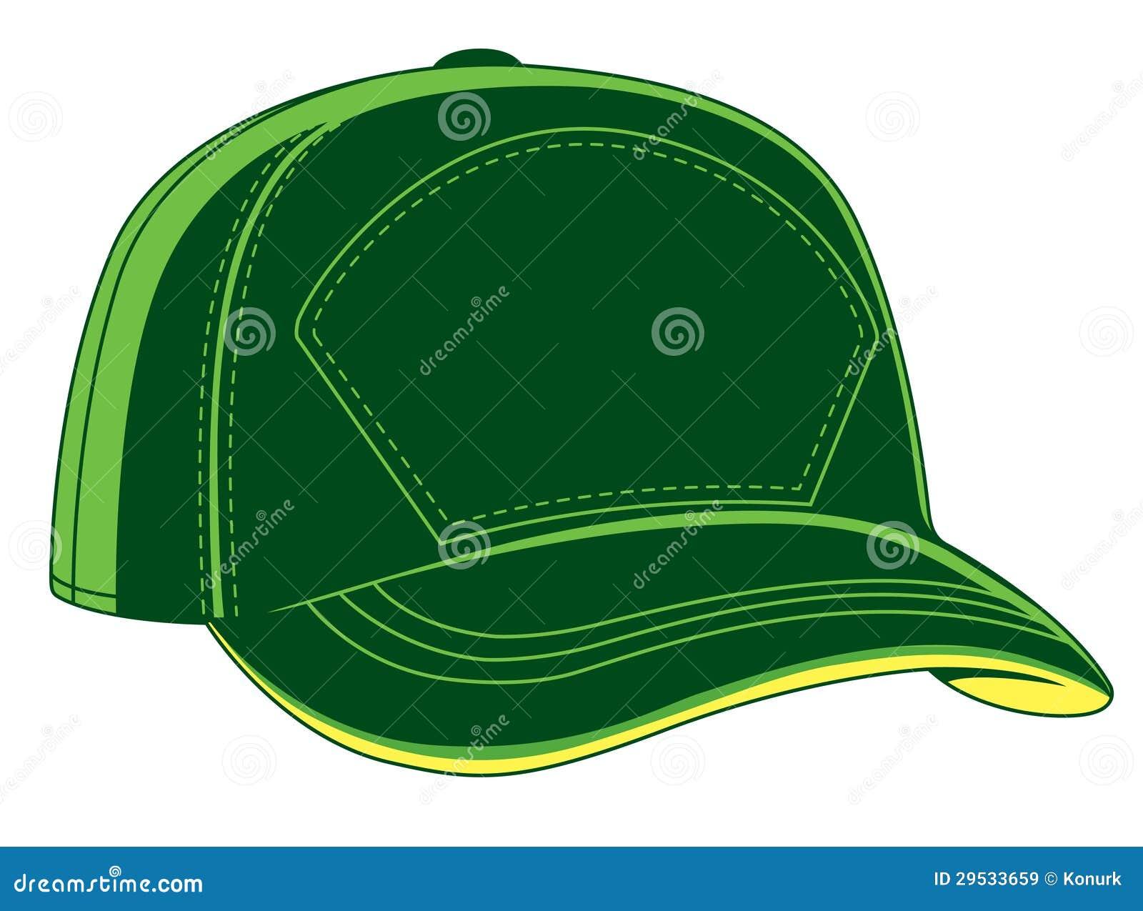Boné de beisebol verde