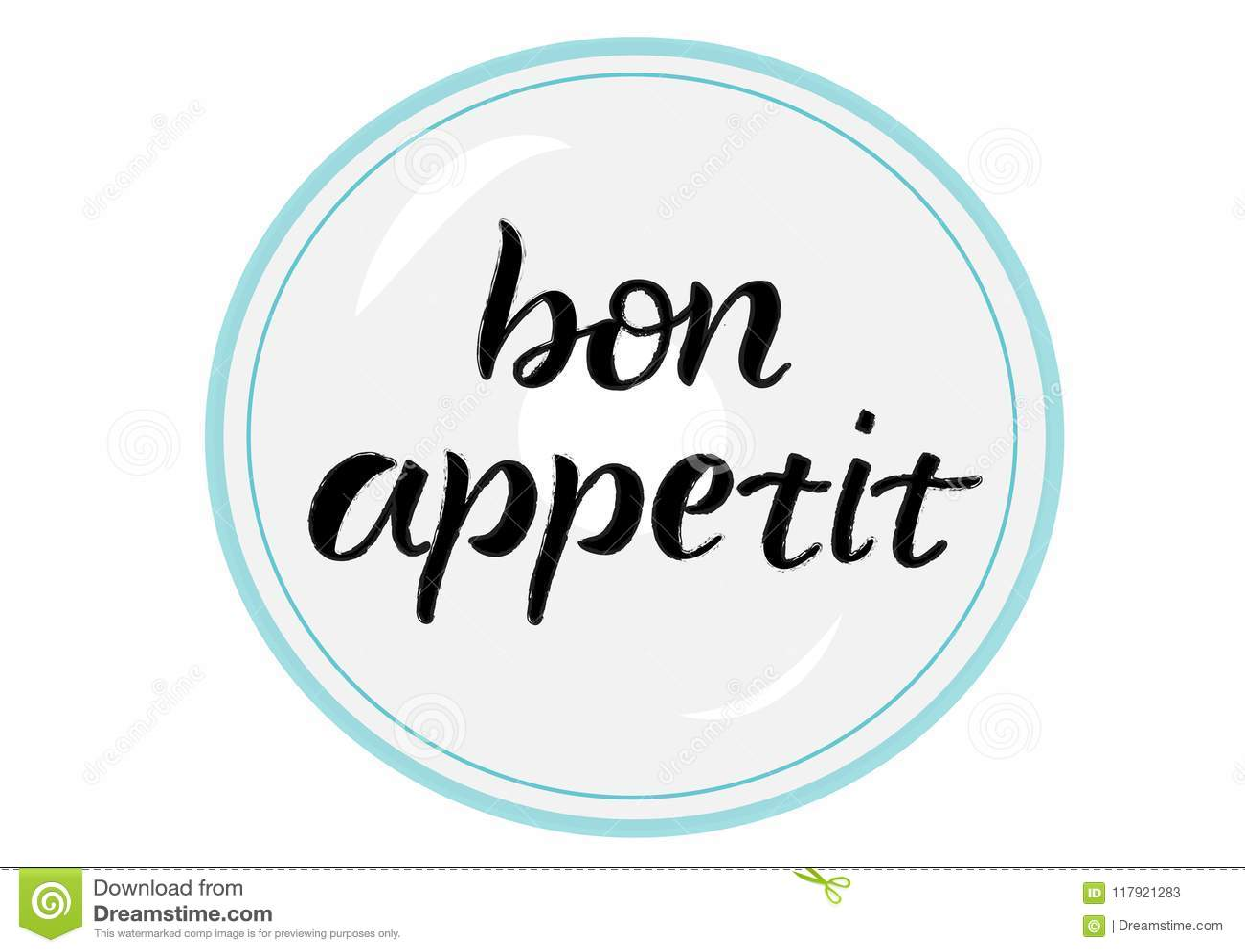Bon appetit, beschriftend