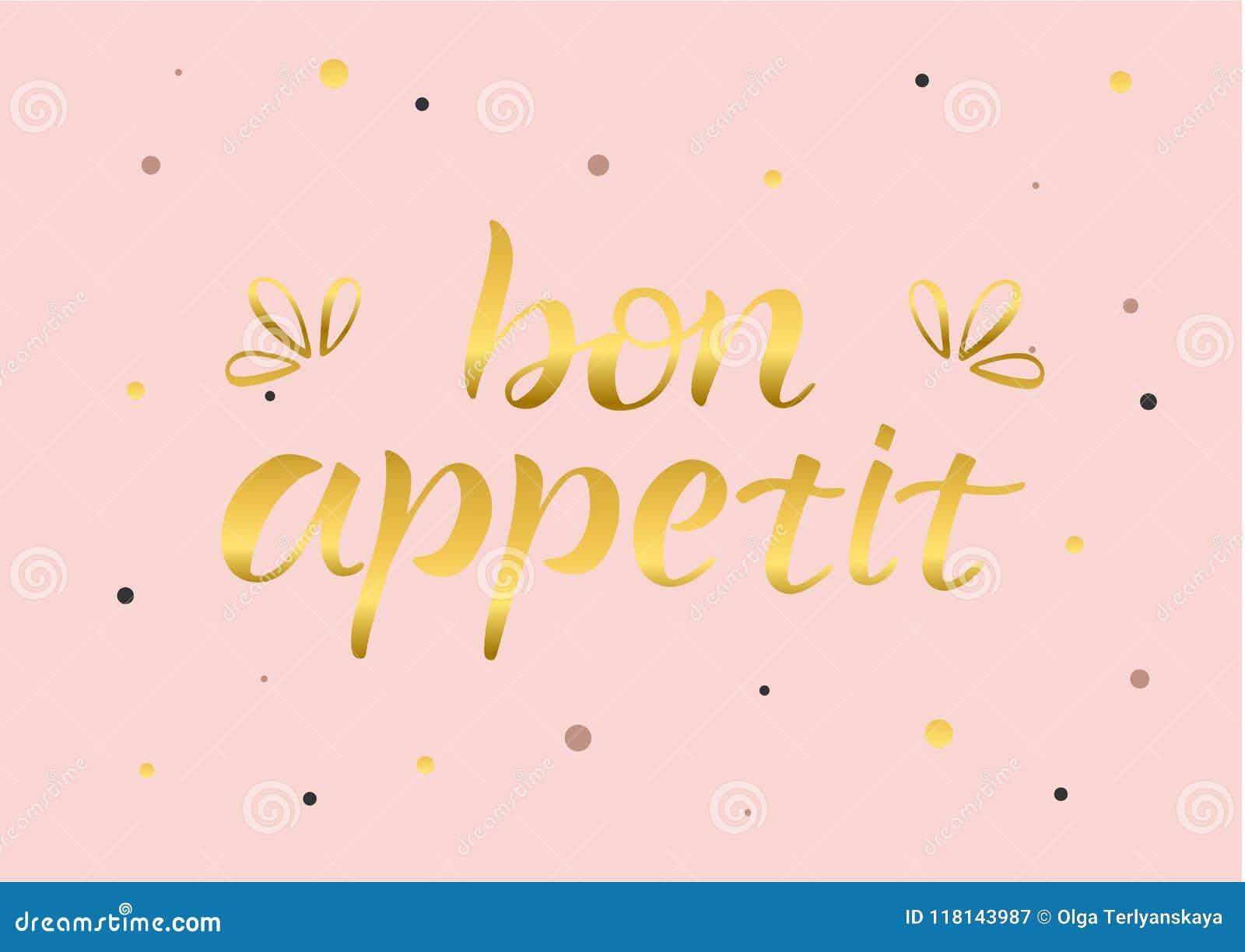 BON APPETIT-, BESCHRIFTEND