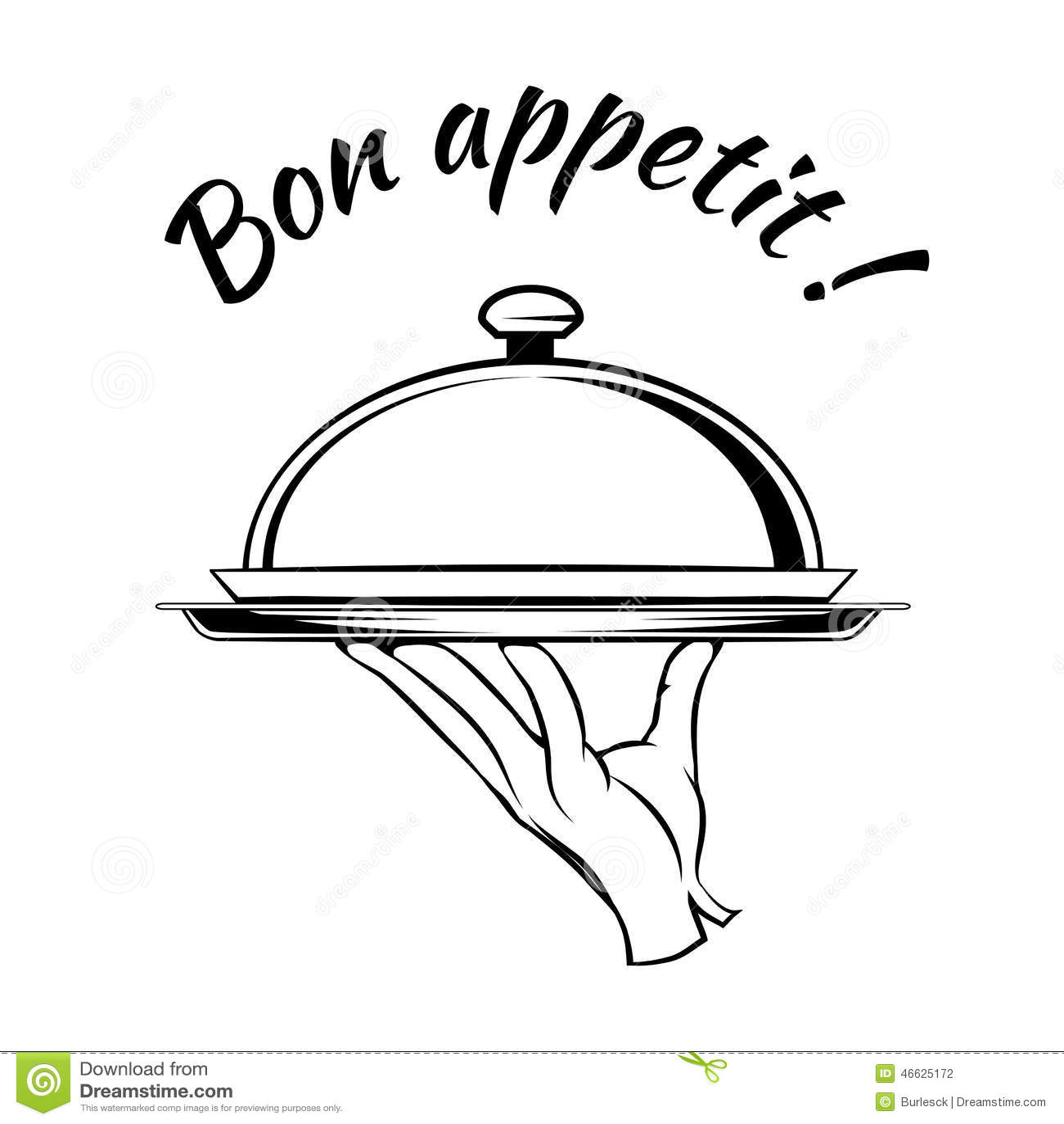 bon appetit delicious dish element no talking clip art cartoon not talking clipart