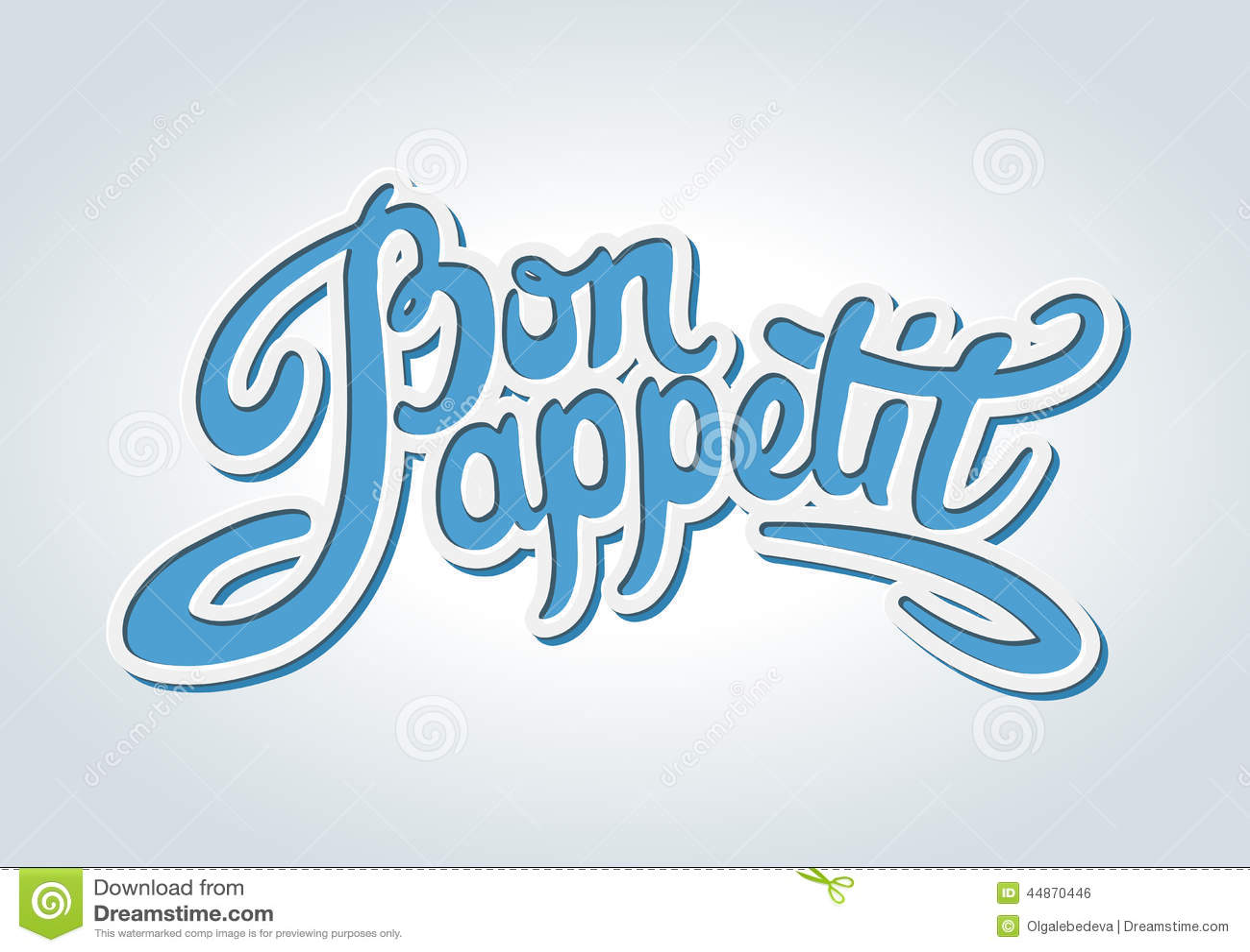 Bon appetit Hand gezeichnete Beschriftung