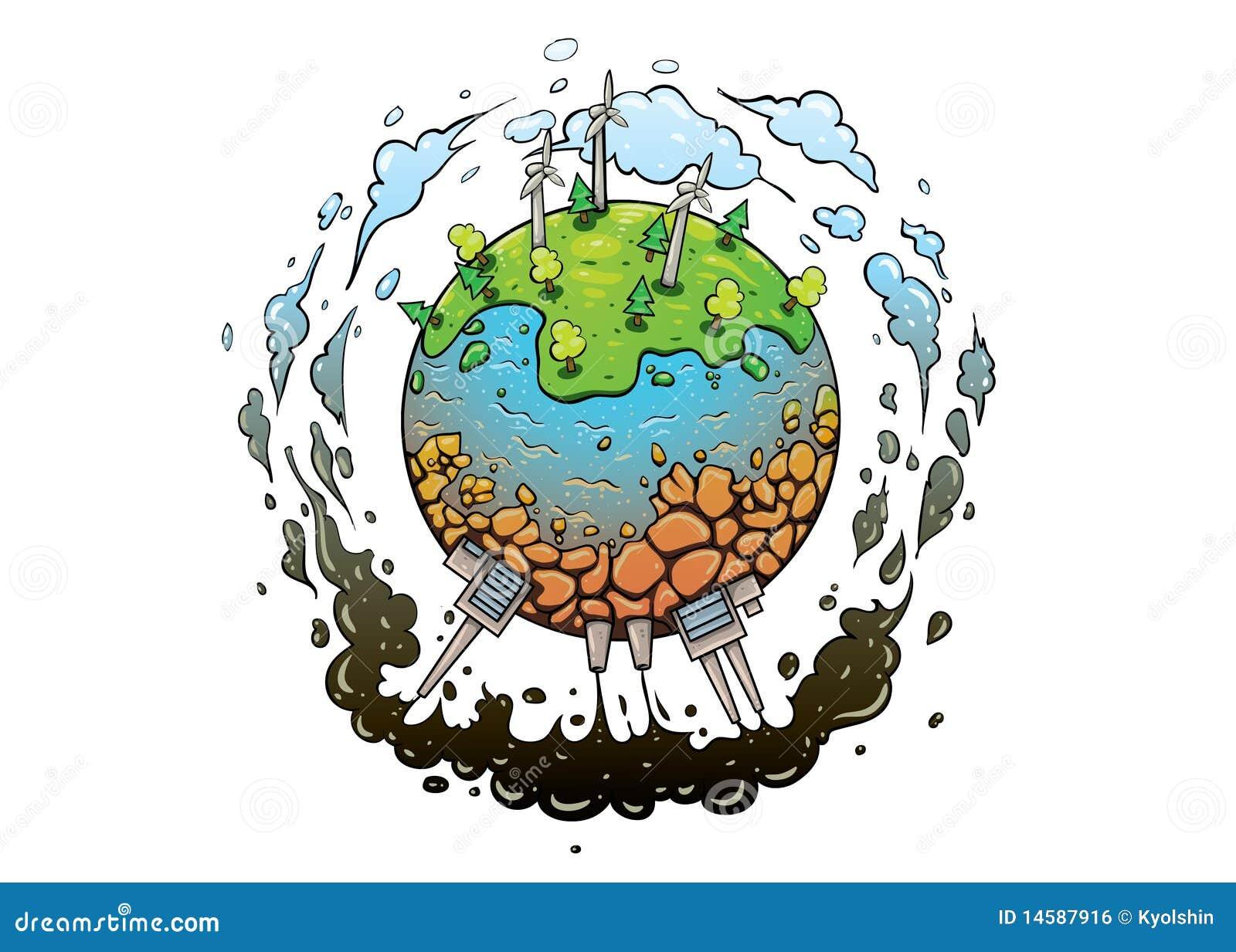 Bon Et Contrat à Terme De La Terre De Planète Illustration De