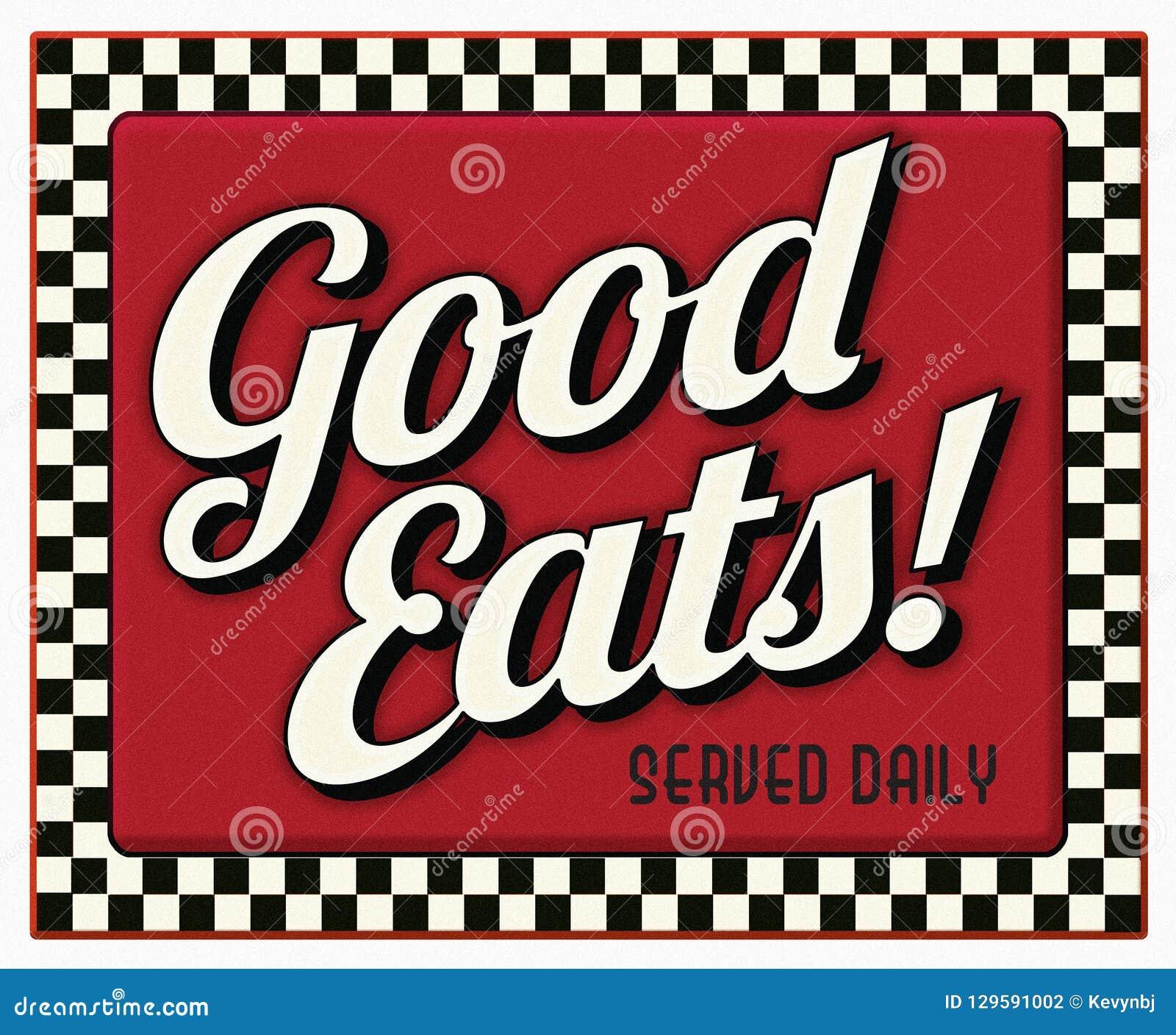 Bon mange le signe quotidien servi de wagon-restaurant