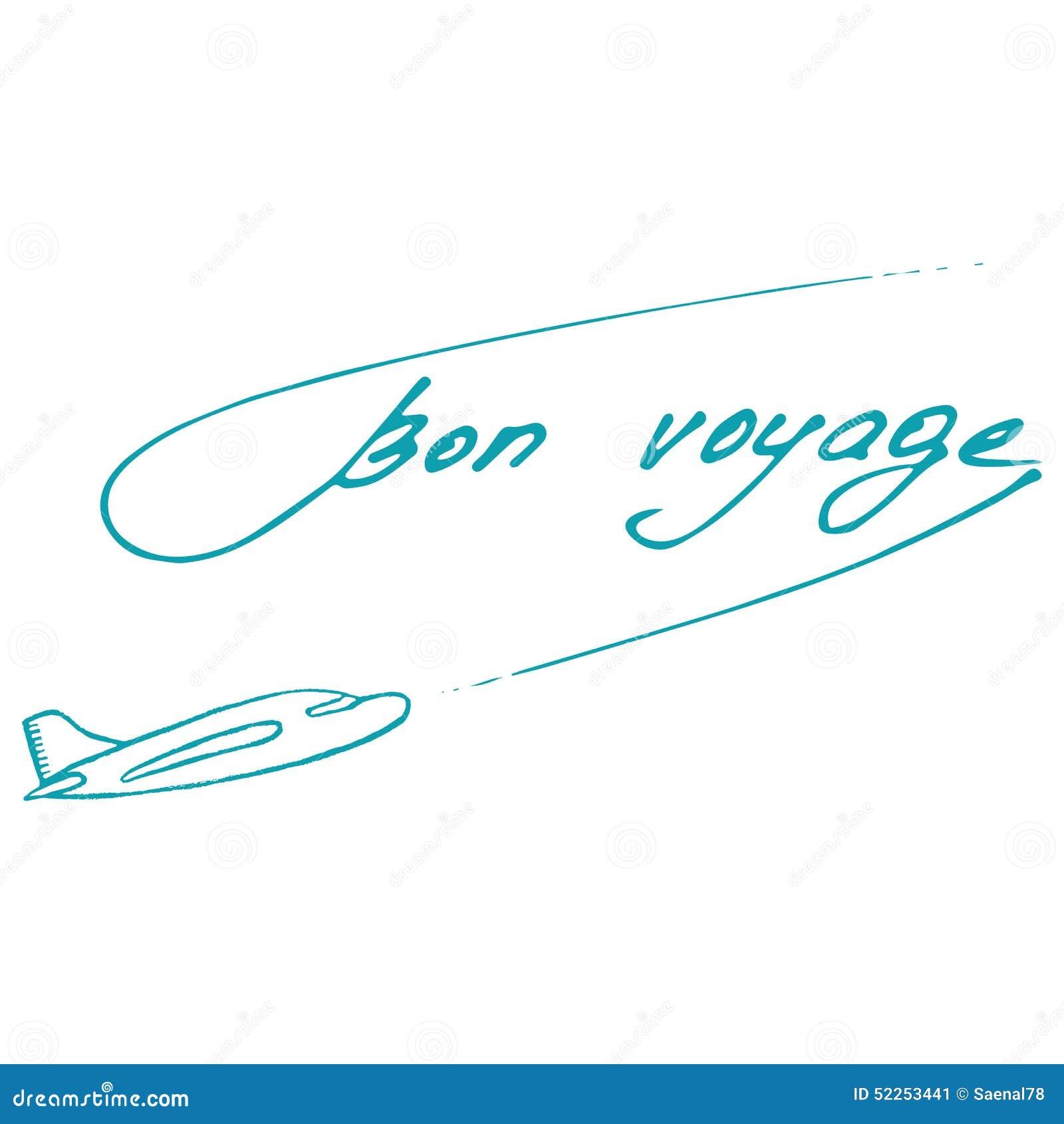Bon Voyage design. Summer postcard