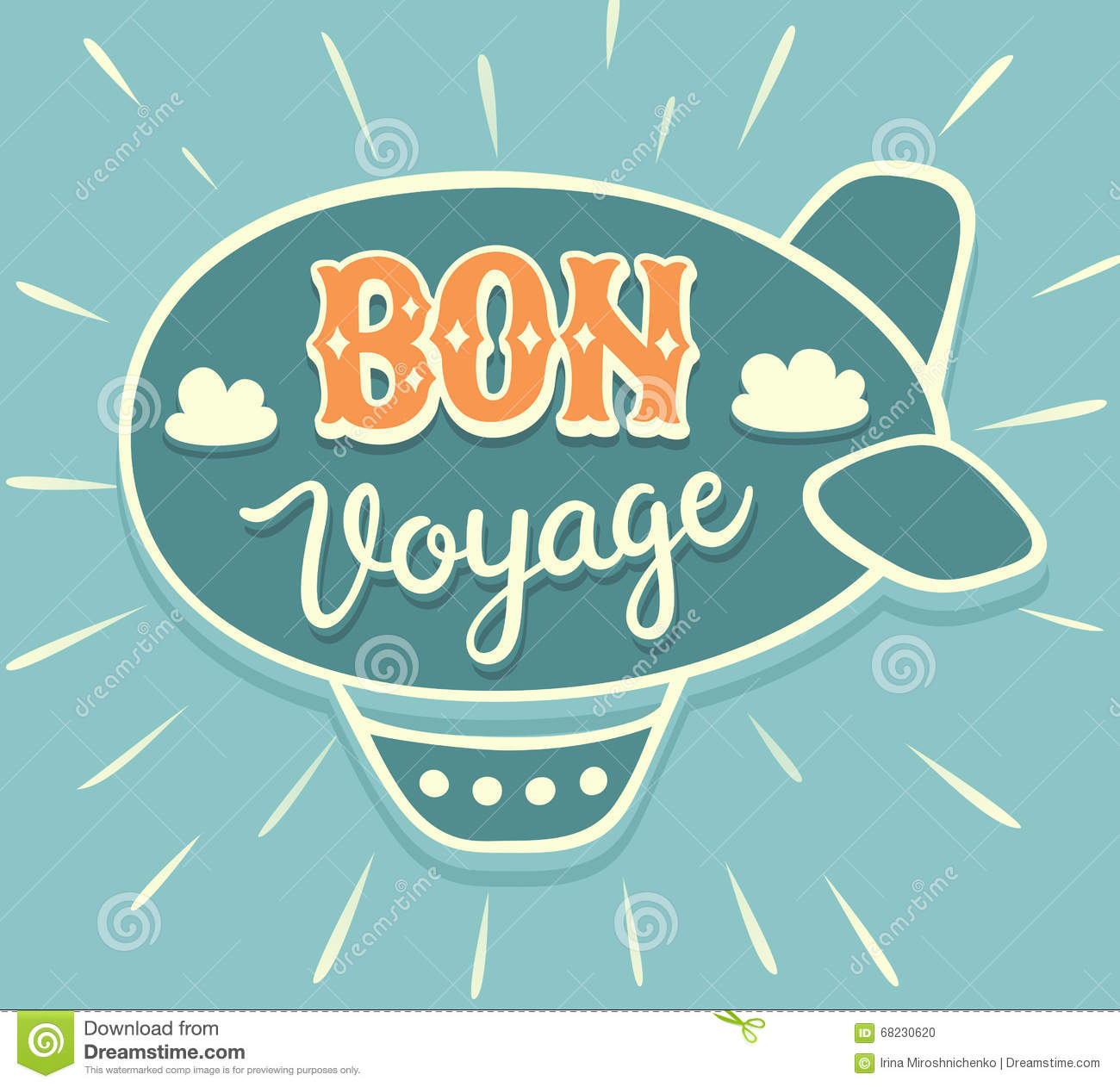 Bon voyage hand lettering with airship stock vector illustration download bon voyage hand lettering with airship stock vector illustration of invitation decoration stopboris Image collections