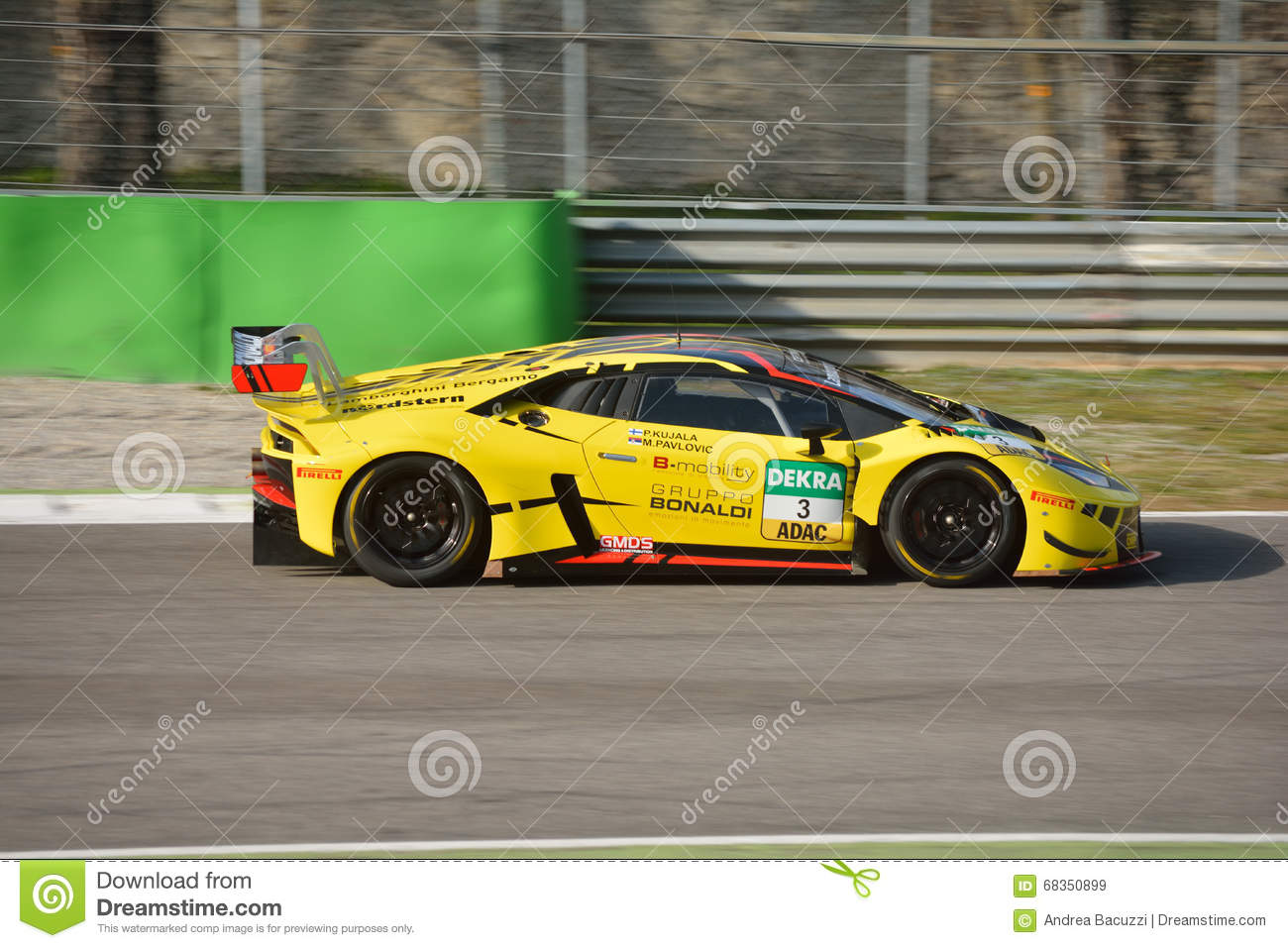 bonaldi motorsport lamborghini hurac n gt3 2016 editorial stock image image. Black Bedroom Furniture Sets. Home Design Ideas