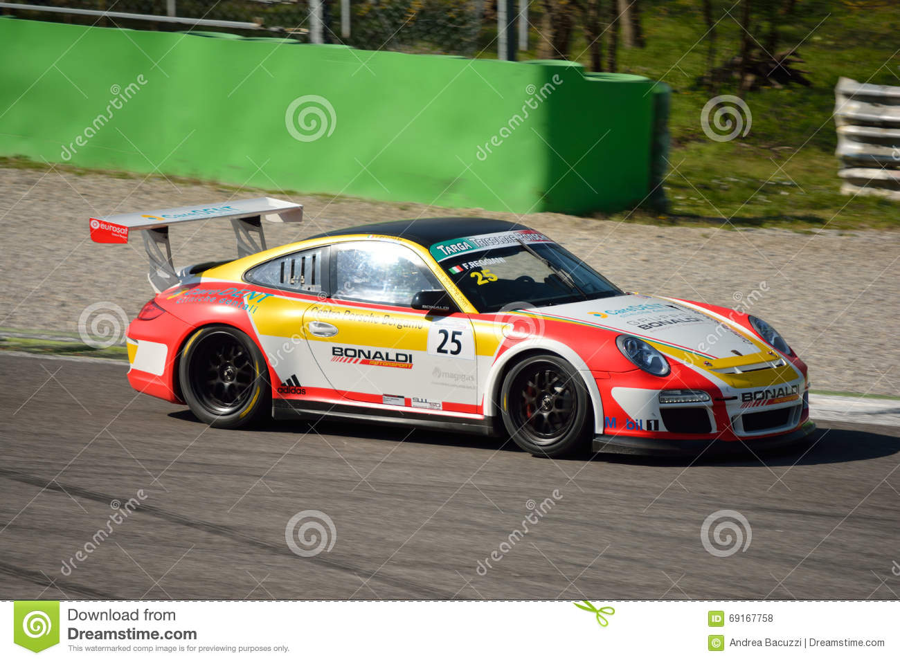 bonaldi motorsport porsche 911 gt3 cup at monza editorial stock photo image 69167758. Black Bedroom Furniture Sets. Home Design Ideas