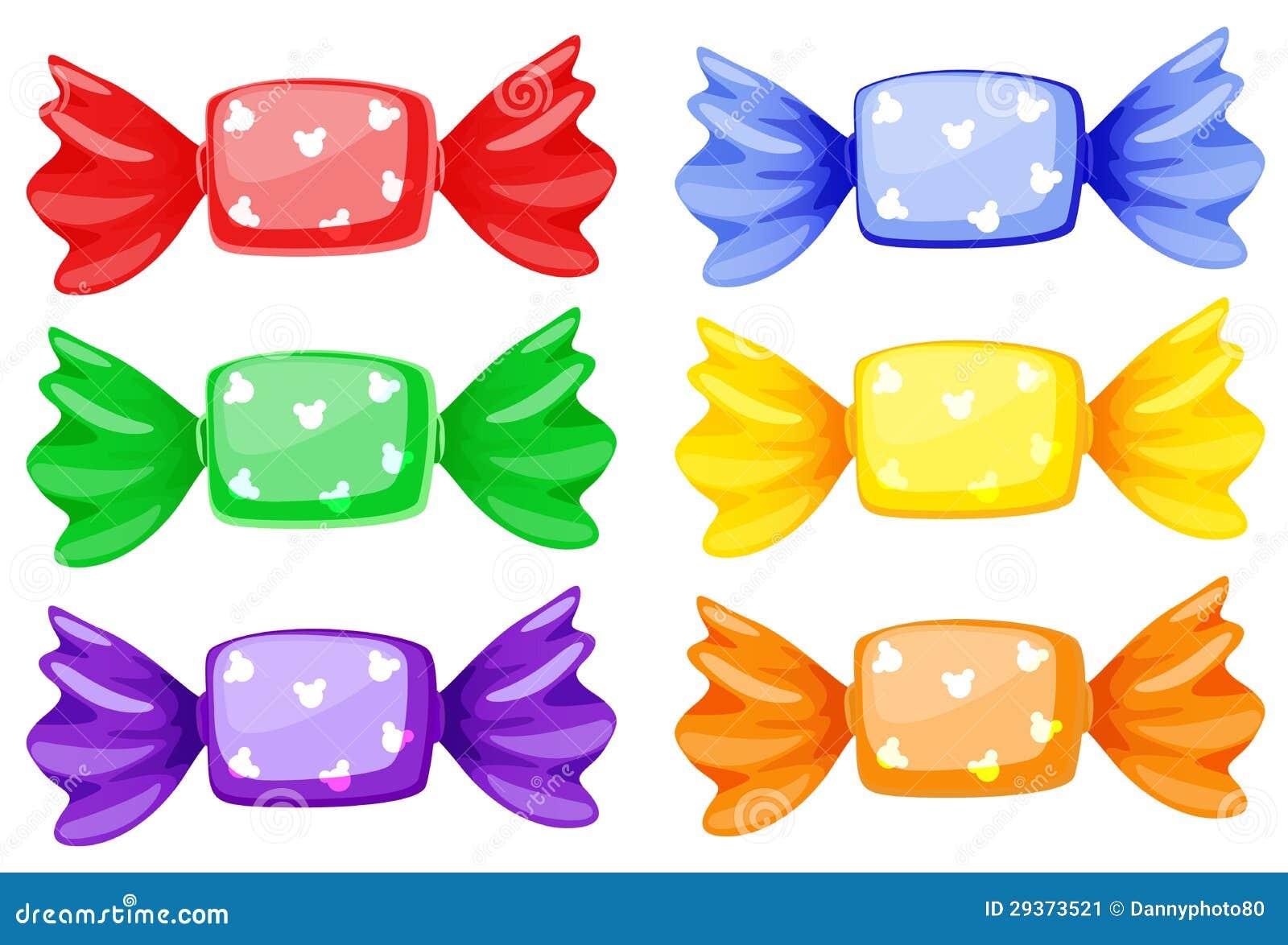 Bonbons stock abbildung illustration von kinder sechs 29373521 - Bonbons dessin ...
