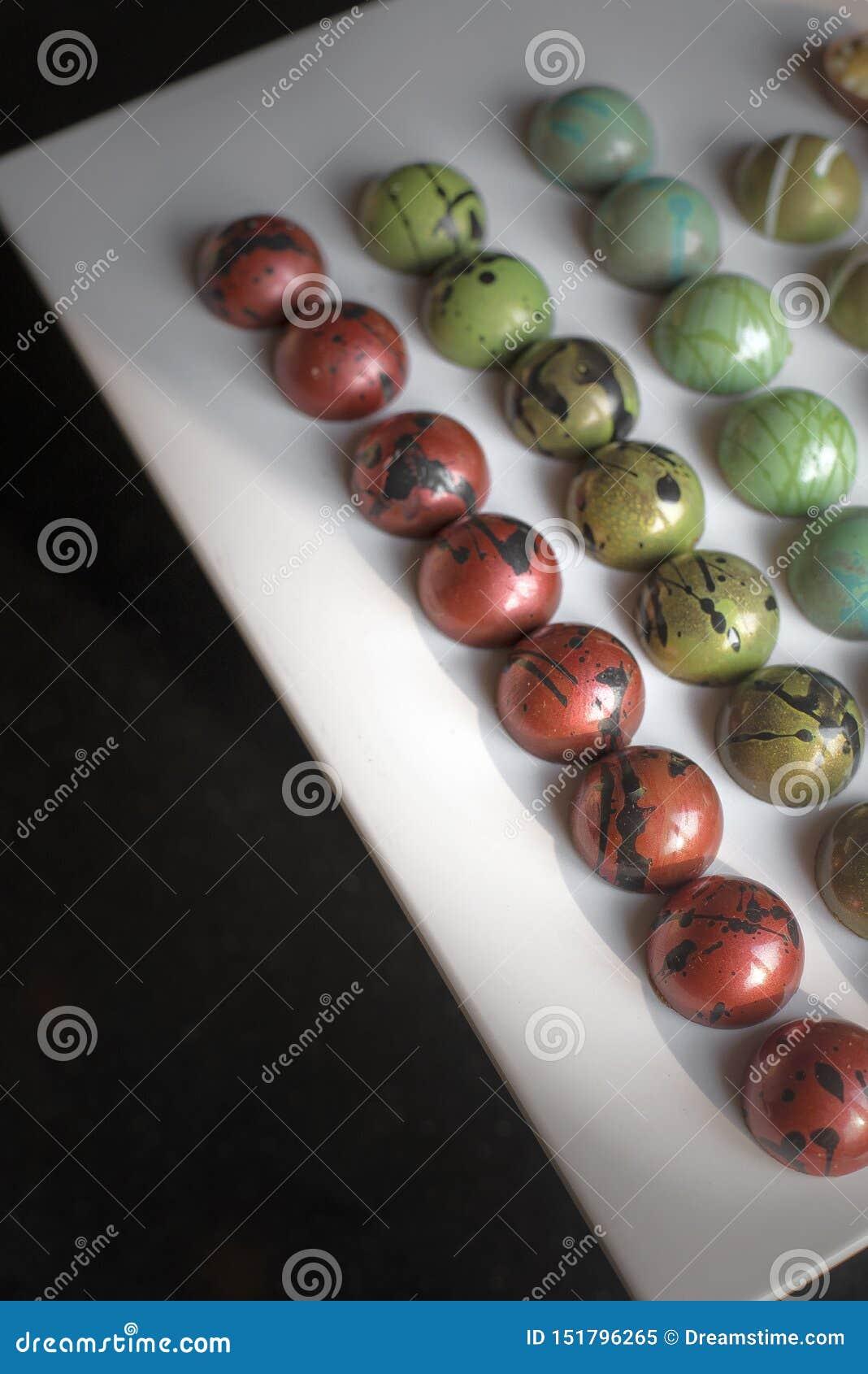 Bonbons modernes à boîte de chocolat coloré de seet