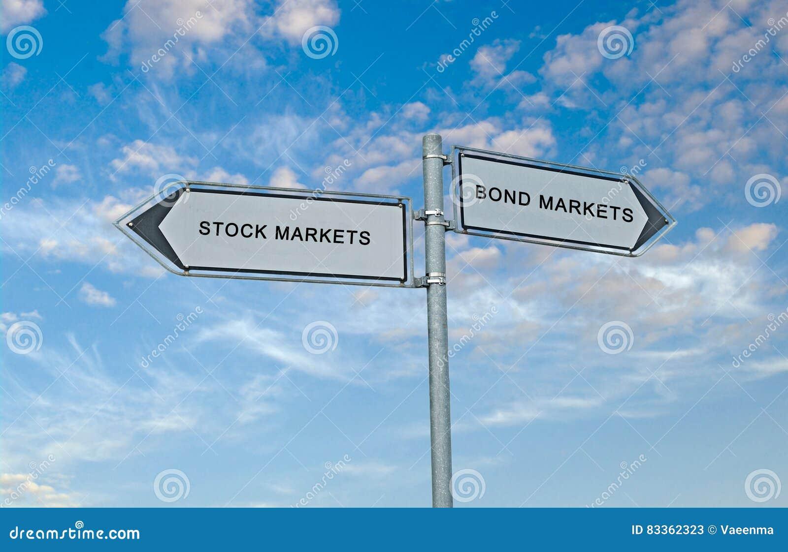 Bond market and stock market