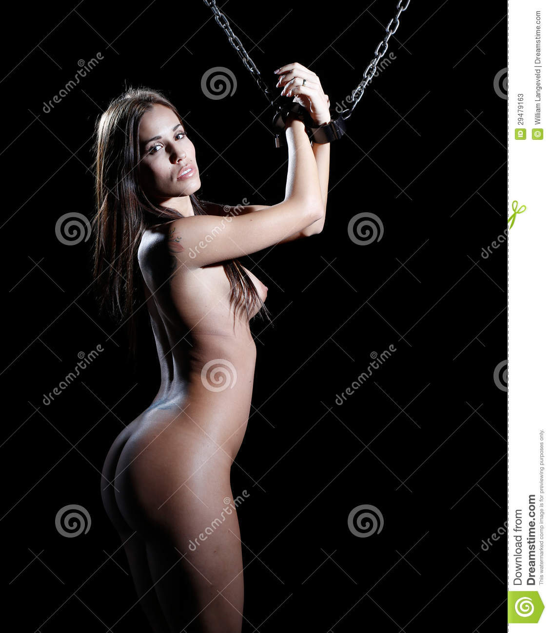 Bondage Art Style With Nude Or Naked Woman Tied Up With A -7848