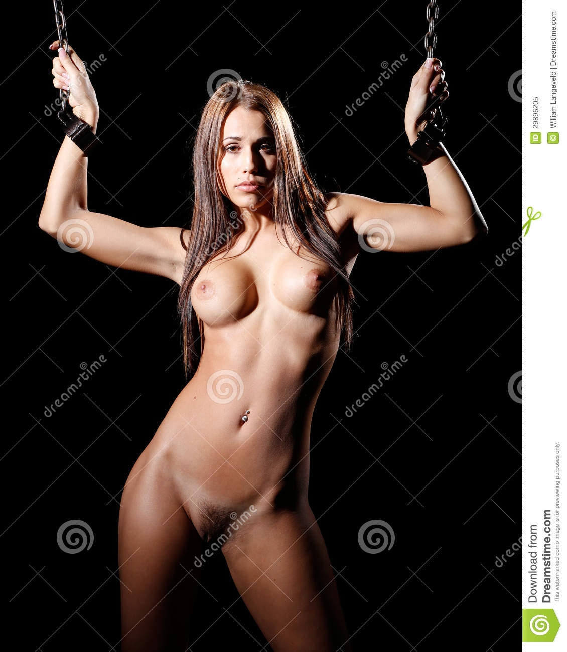 Bondage Art Style With Nude Or Naked Woman Tied Up With -7493