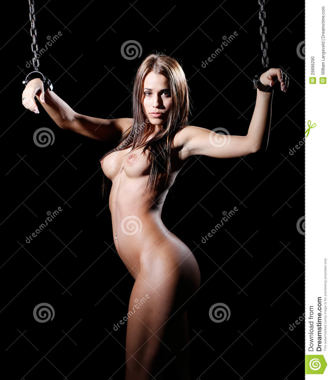 Bondage Art Style With Nude Or Naked Woman Tied Up With -1085