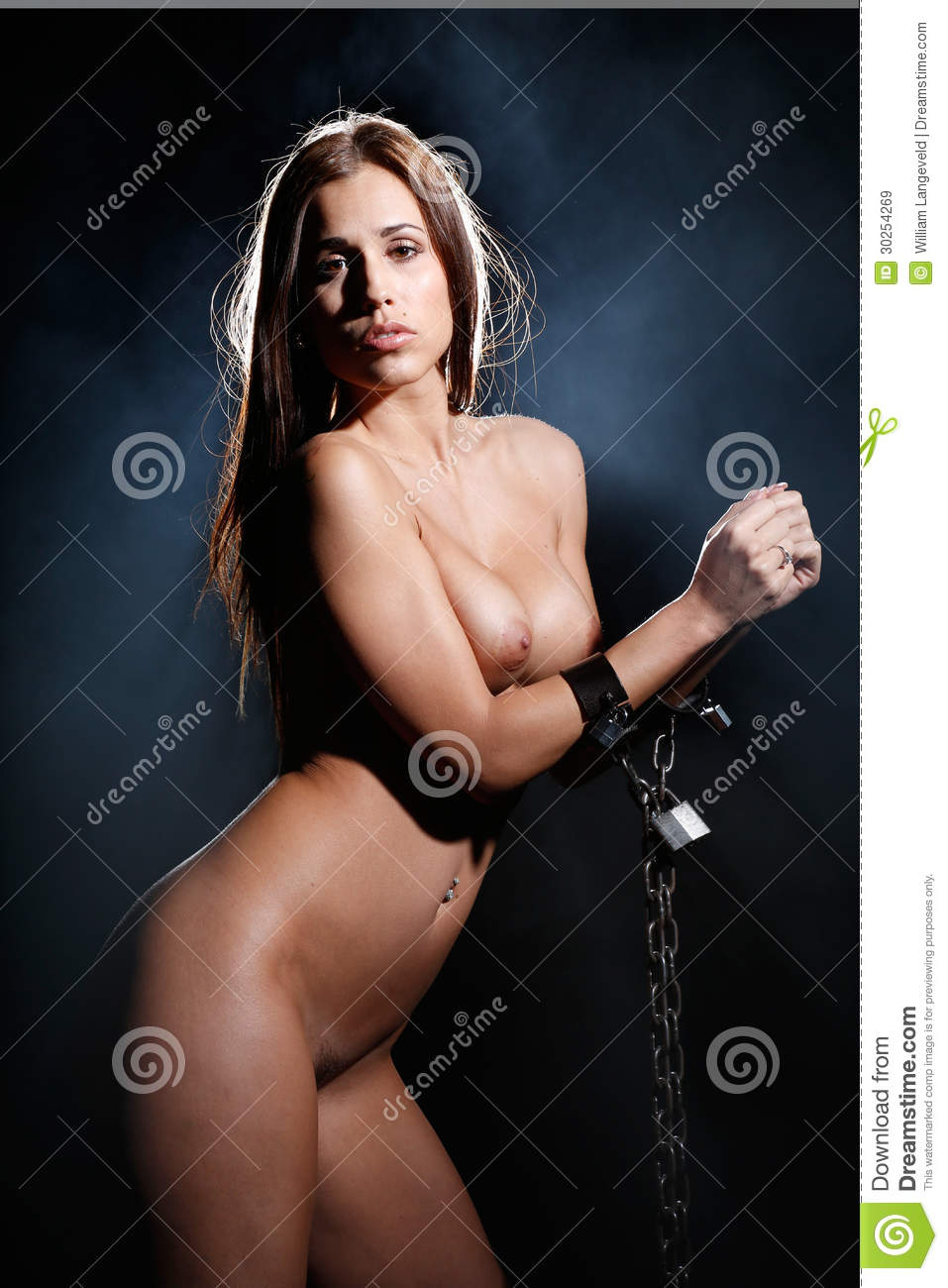 Models in chain bondage