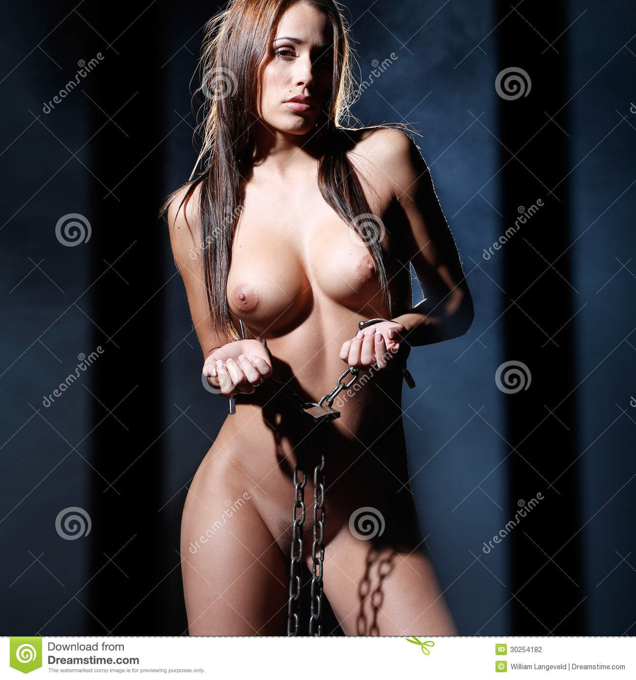 Bondage Art Style With Nude Or Naked Woman Tied Up With A -3780