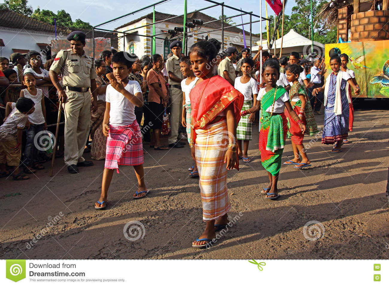 Flag Festival India: Bonderam 2016 Festival In Goa, India 1 Editorial Stock