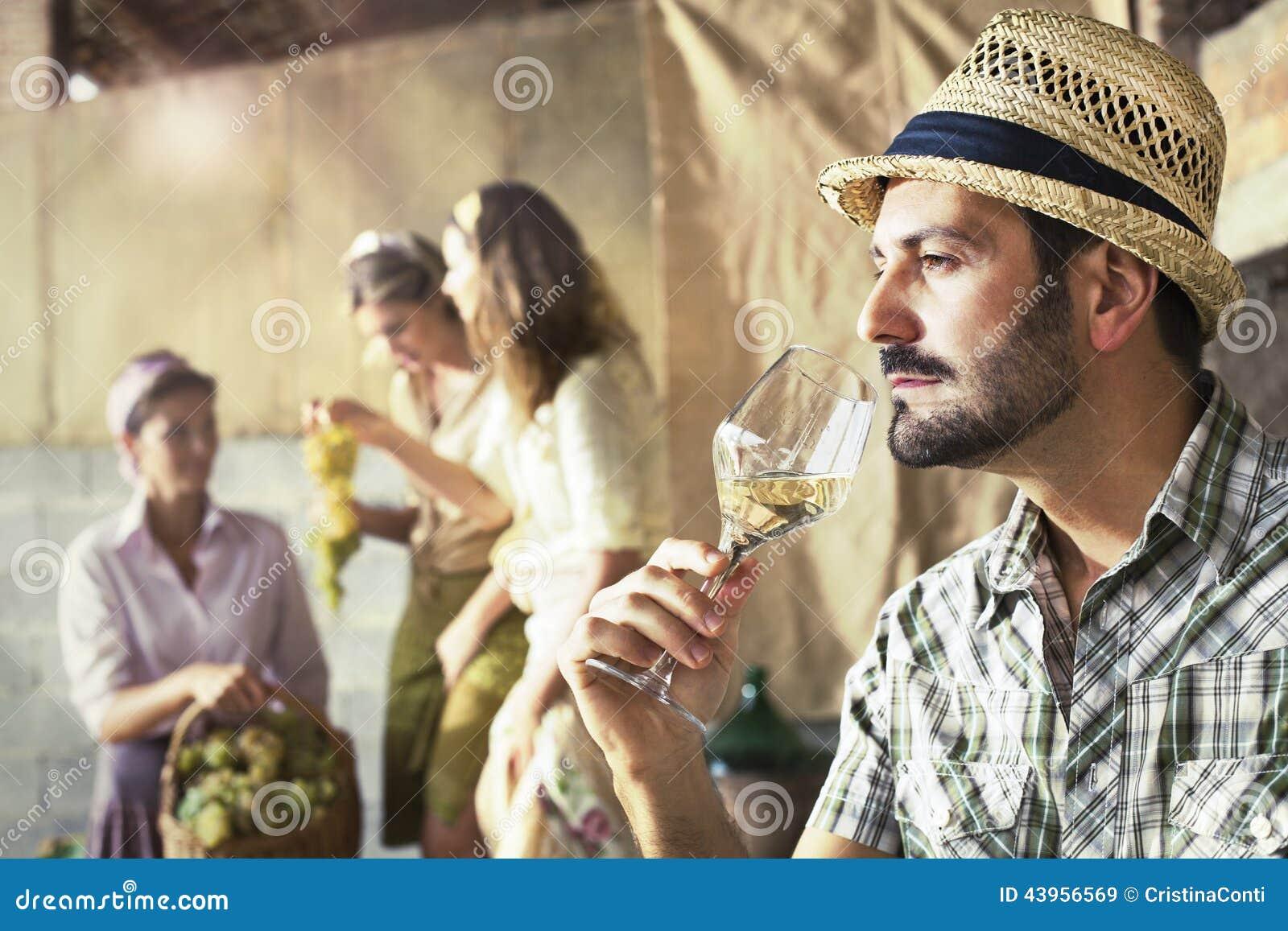 Bondesmak per exponeringsglas av vitt vin