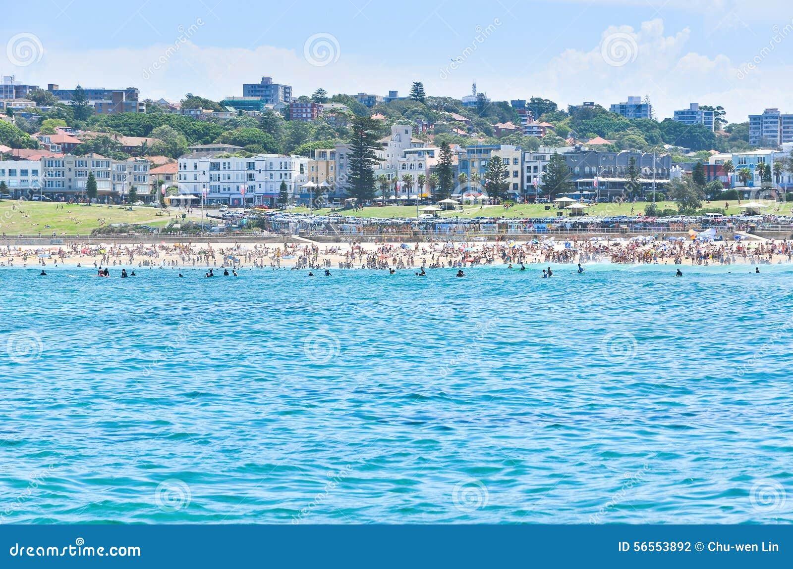 Download Bondi Σύδνεϋ παραλιών της Αυστραλίας Στοκ Εικόνες - εικόνα από εξωτικός, leisure: 56553892