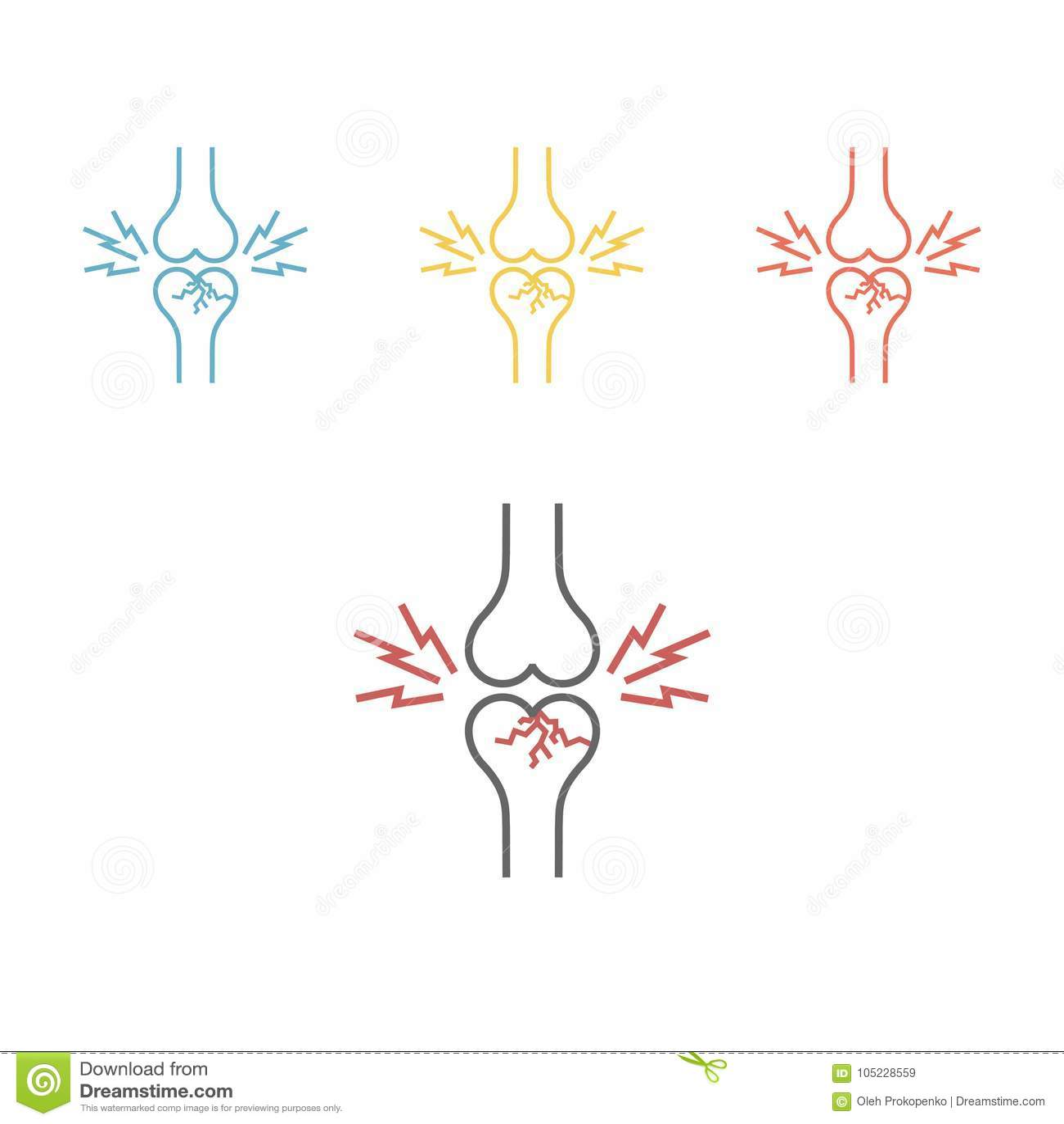 Bone Fracture Human Body Osteoporosis Icon Stock Vector