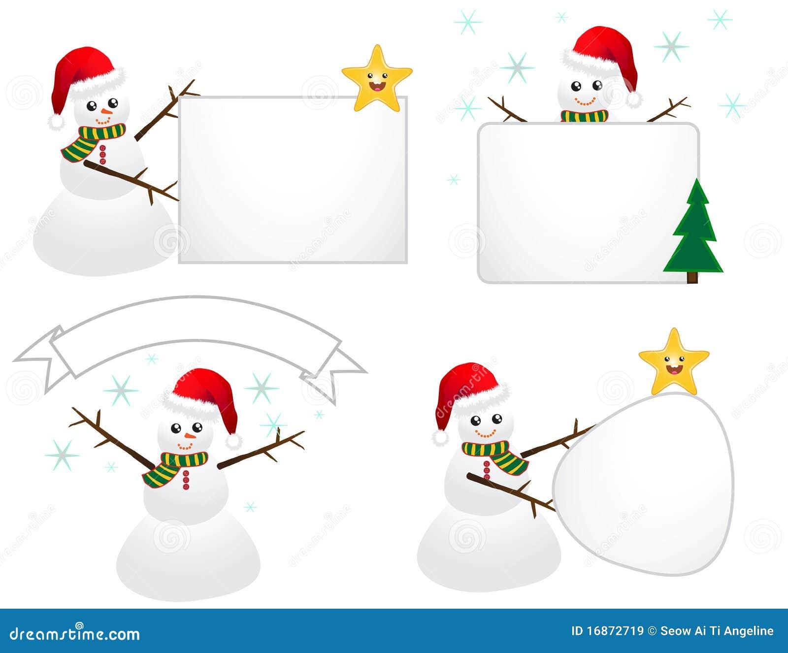 Boneco de neve de Santa com sinal