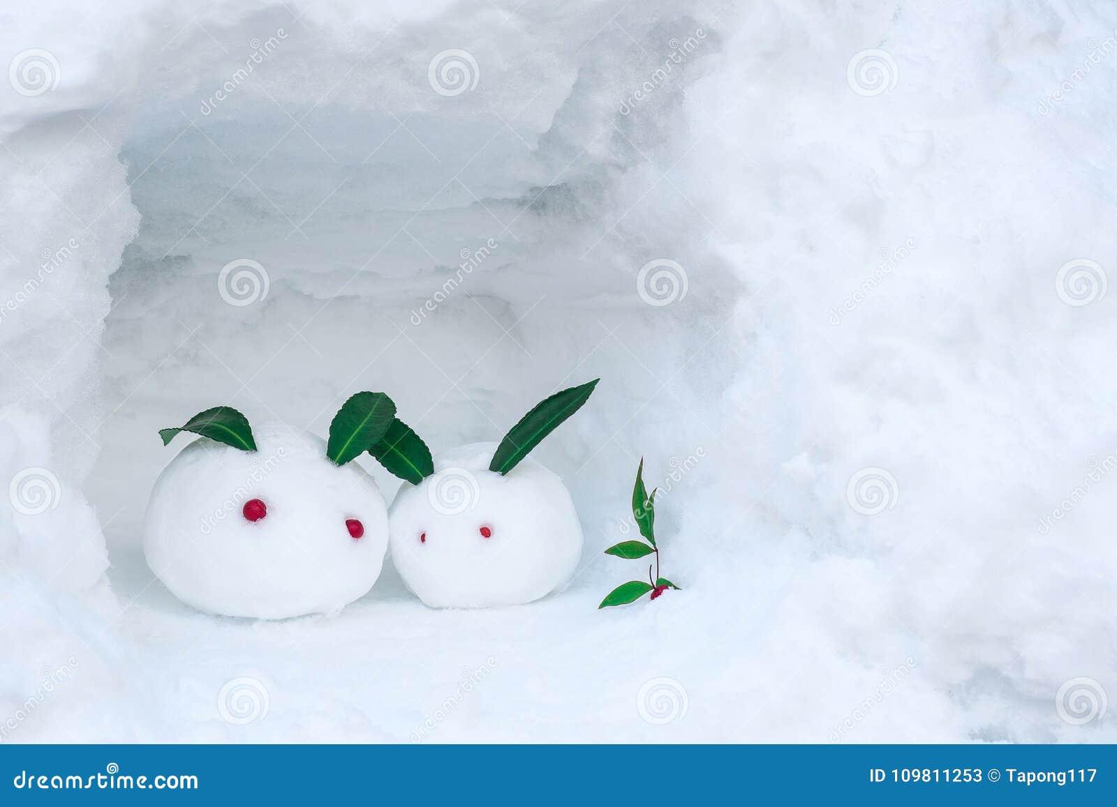 Boneco de neve dos coelhos