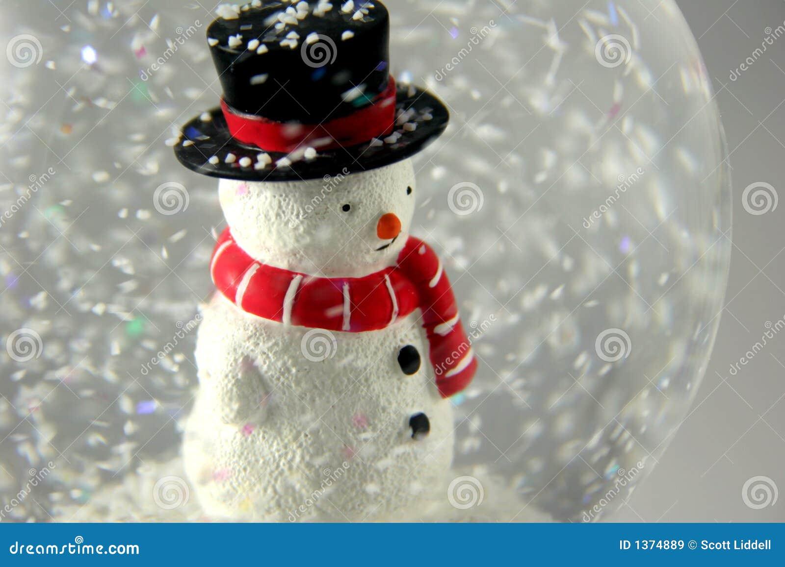 Boneco de neve em Snowglobe