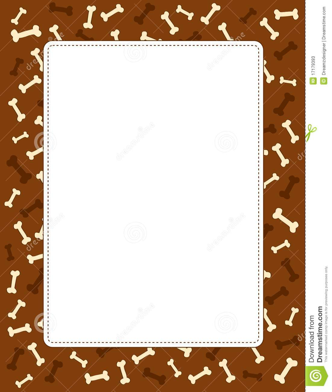 Animal / dog bones seamless background / border / frame.