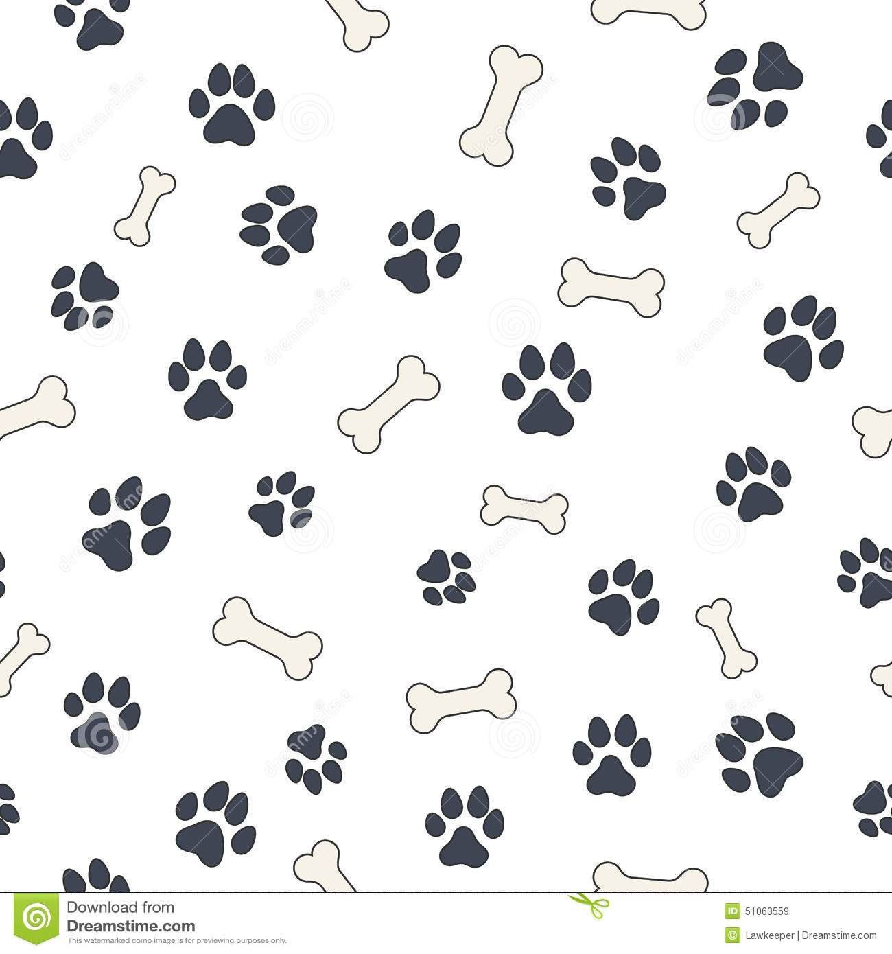 Bones And Paws Stock Vector. Image Of Foot, Step, Claw