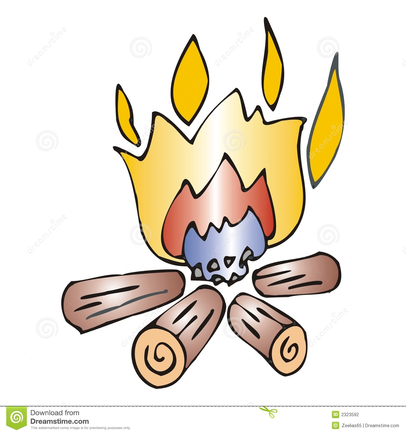 Bonfire Stock Vector Image Of Chimney Bonfire Cartoon