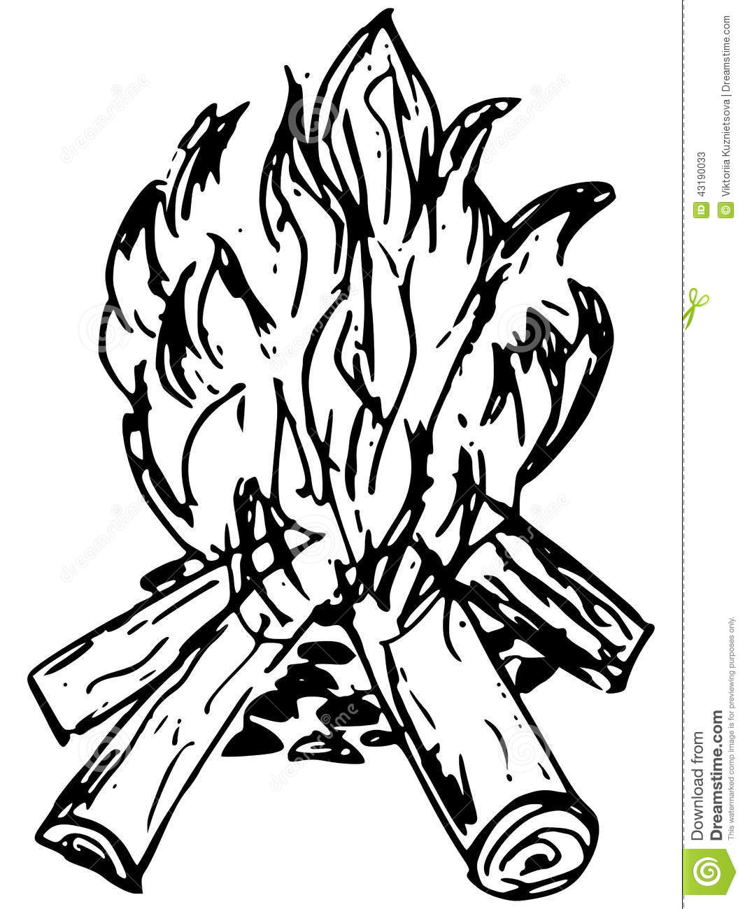 bonfire stock vector  image of clip  camping  isolated